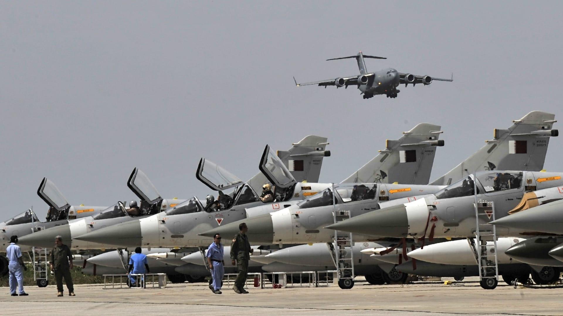 وزارة دفاع قطر تعلن عن حادث تصادم بين طائرتين