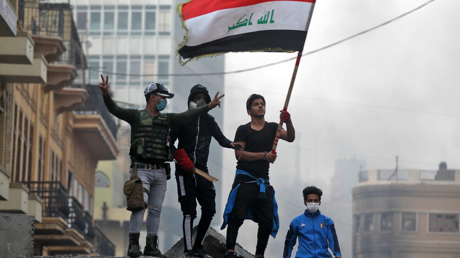 صورة ارشيفية من مظاهرات العراق