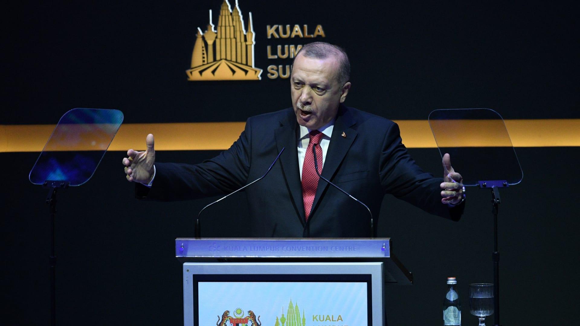 الرئيس التركي رجب طيب أردوغان بالقمة الإسلامية في ماليزيا