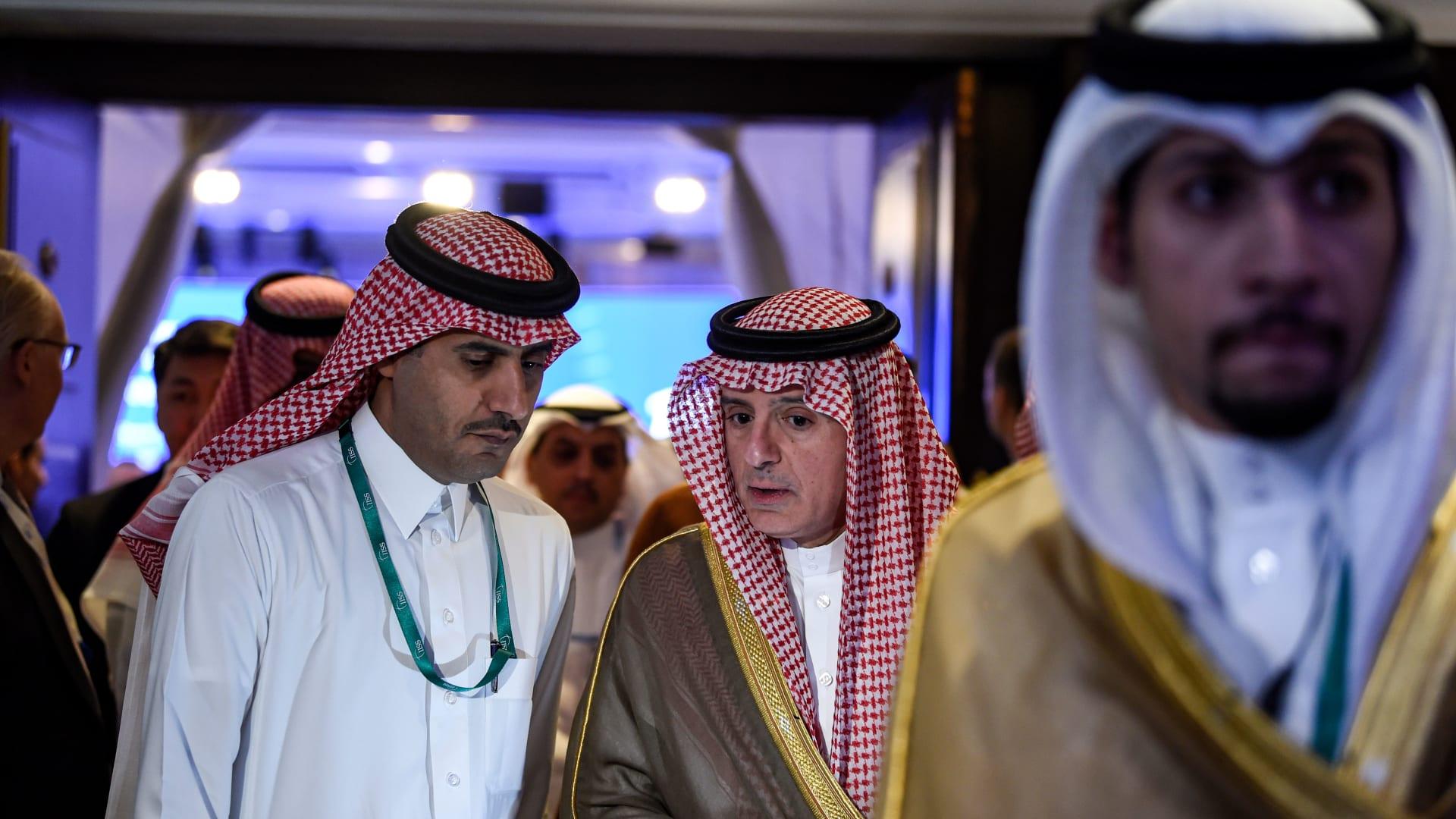 صورة ارشيفية للوزير عادل الجبير في البحرين