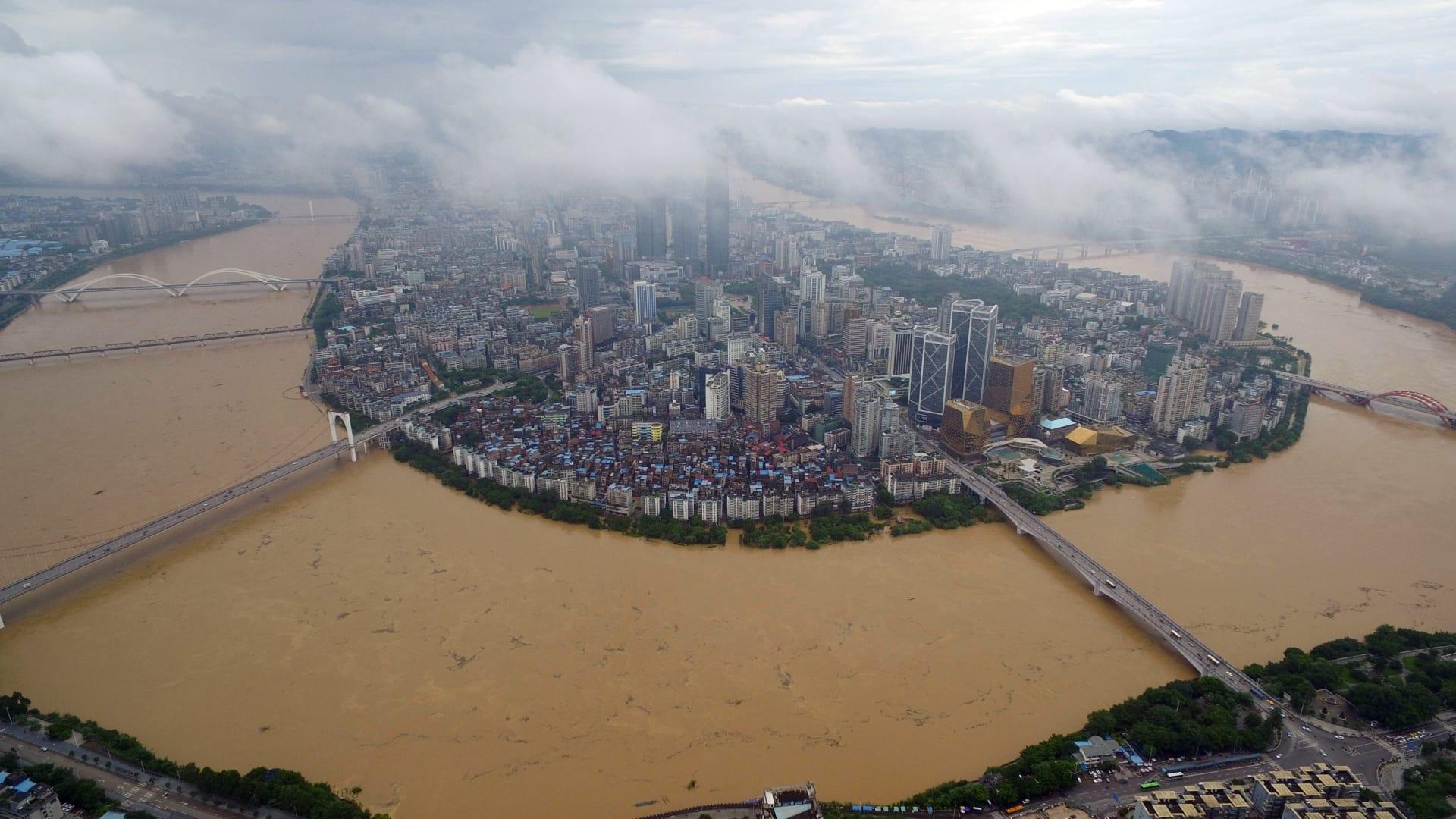 صورة ارشيفية (تعبيرية) لنهر ليوجانغ في الصين