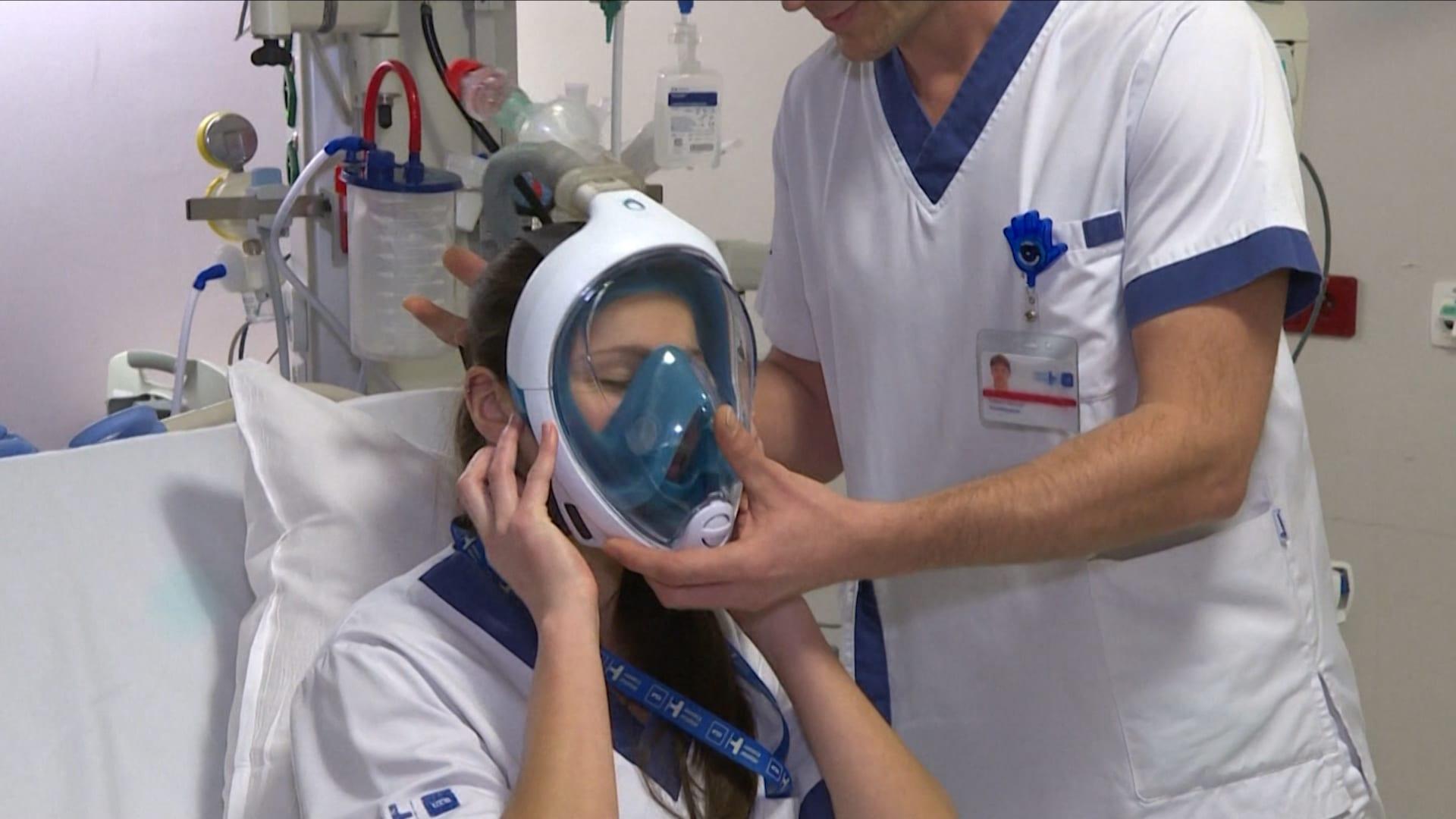 مستشفى بلجيكي يحول أقنعة الغطس إلى أجهزة التنفس الصناعي لمكافحة فيروس كورونا