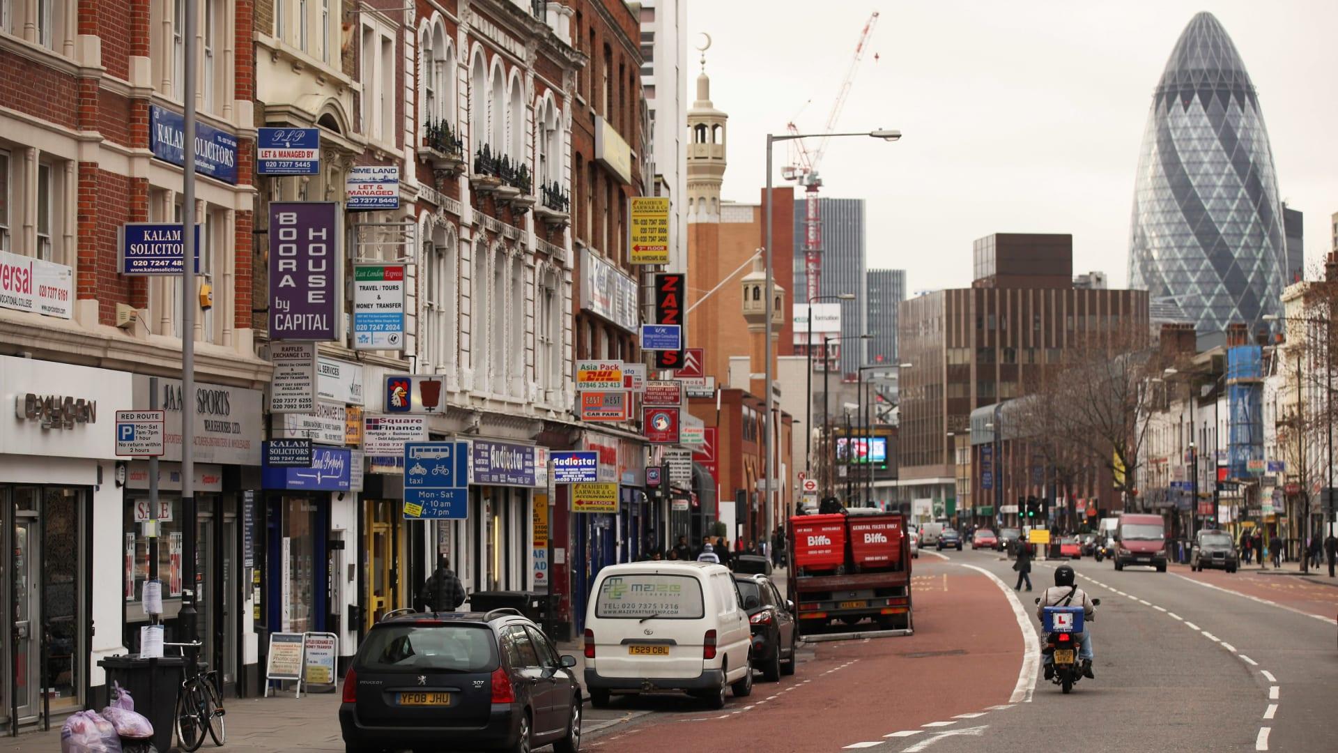 صورة ارشيفية من أحد شوارع العاصمة البريطانية لندن