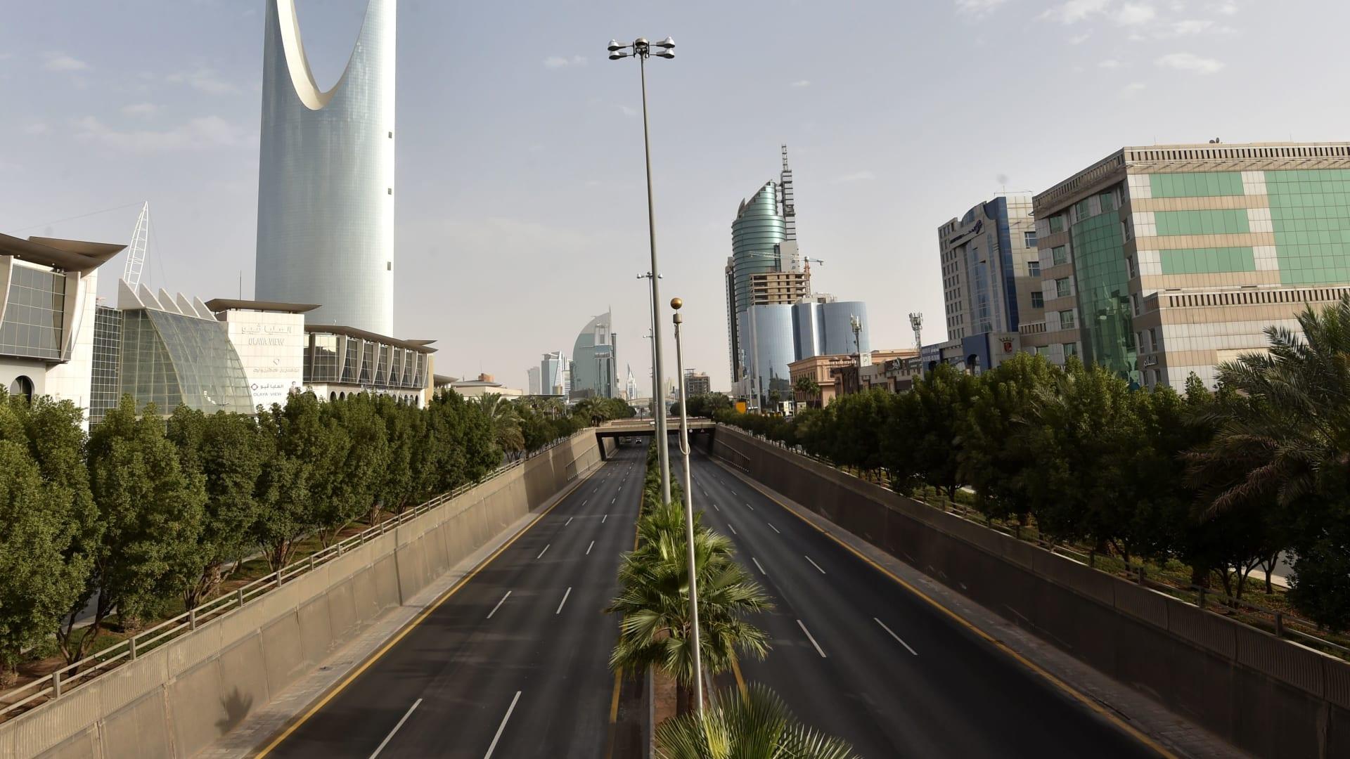 العاصمة السعودية الرياض خلال ساعات حظر التجوال