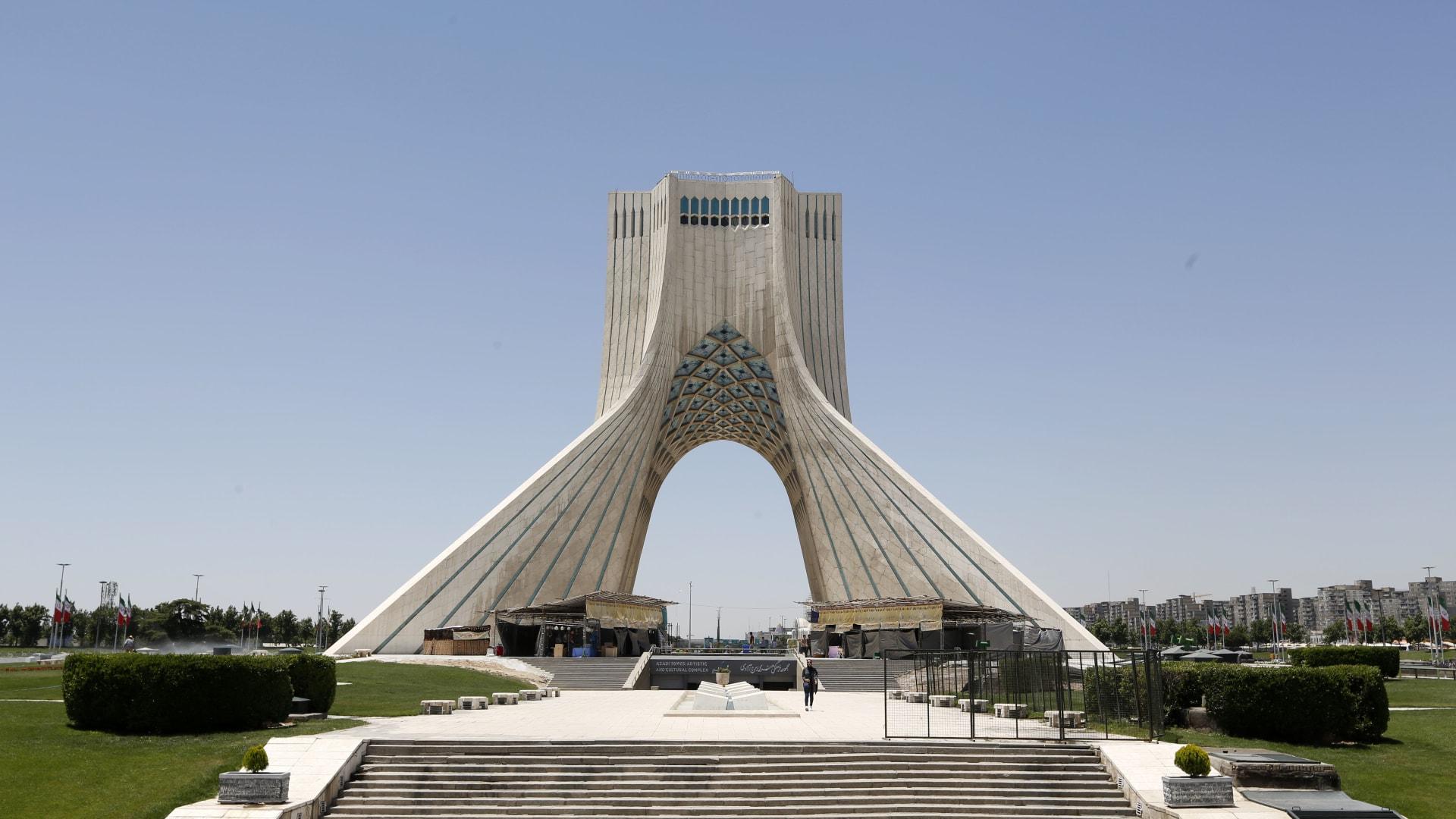 صورة ارشيفية من ميدان بالعاصمة الإيرانية طهران