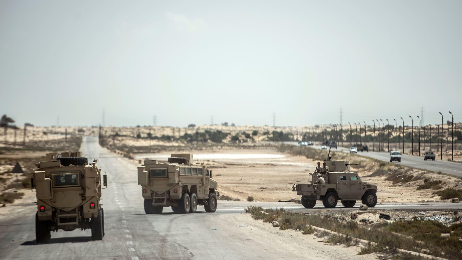 الجيش المصري يعلن إحباط هجوم إرهابي بشمال سيناء.. ومقتل 18 من منفذيه