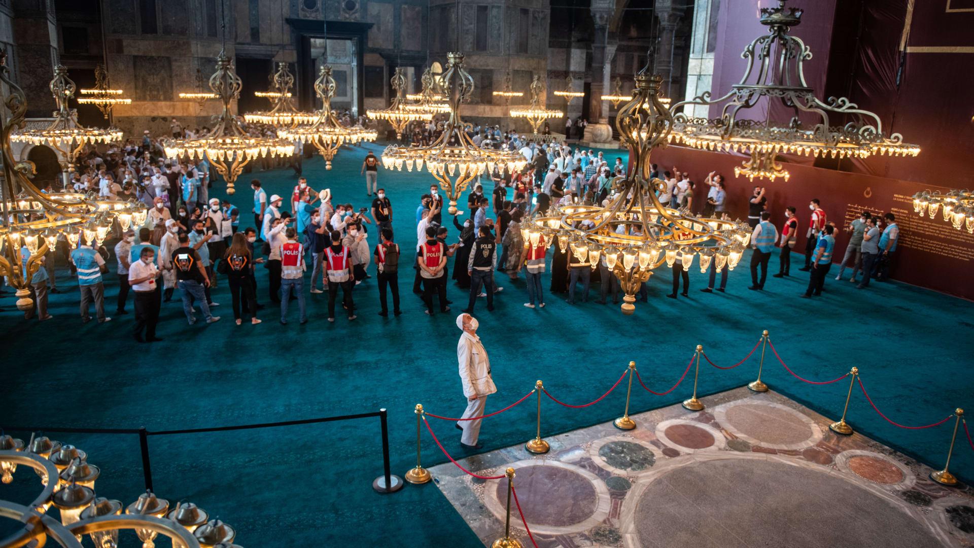 بقعة تتويج الأباطرة داخل مسجد آيا صوفيا