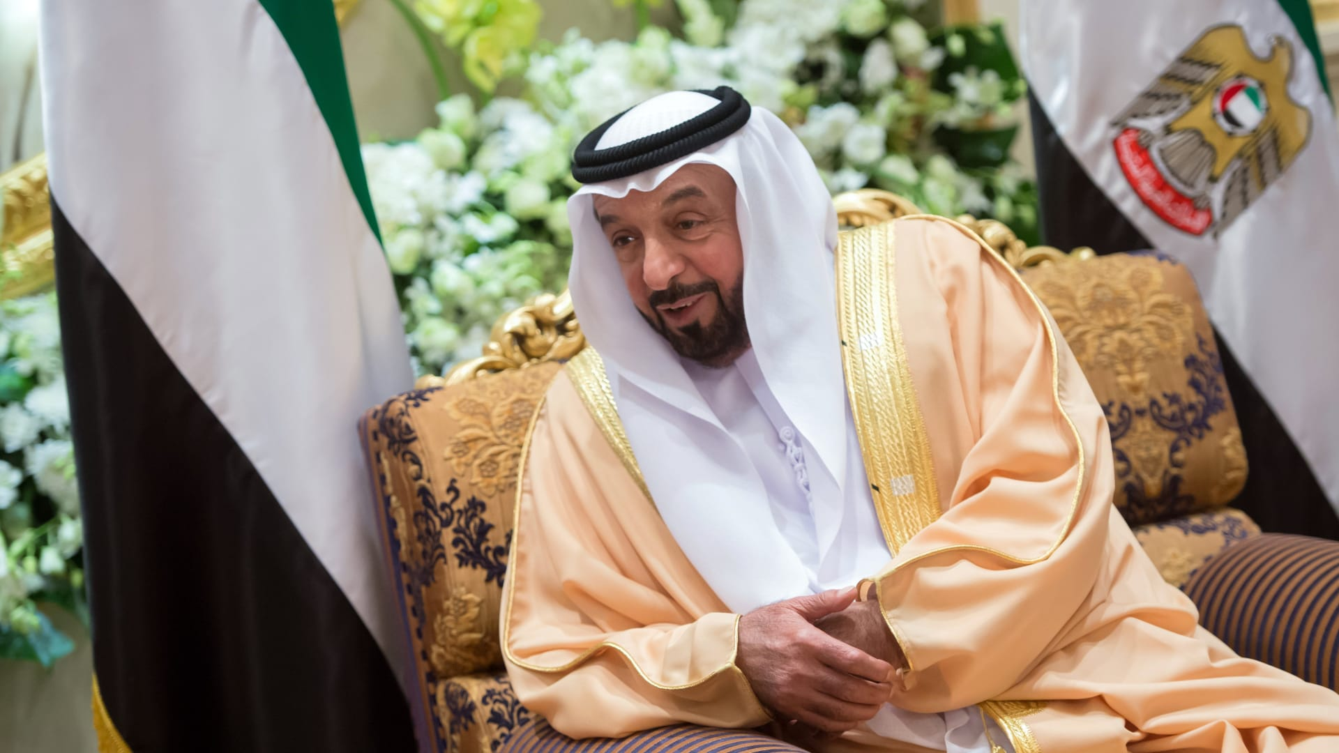 صورة أرشيفية للشيخ خليفة بن زايد رئيس الإمارات العام 2013