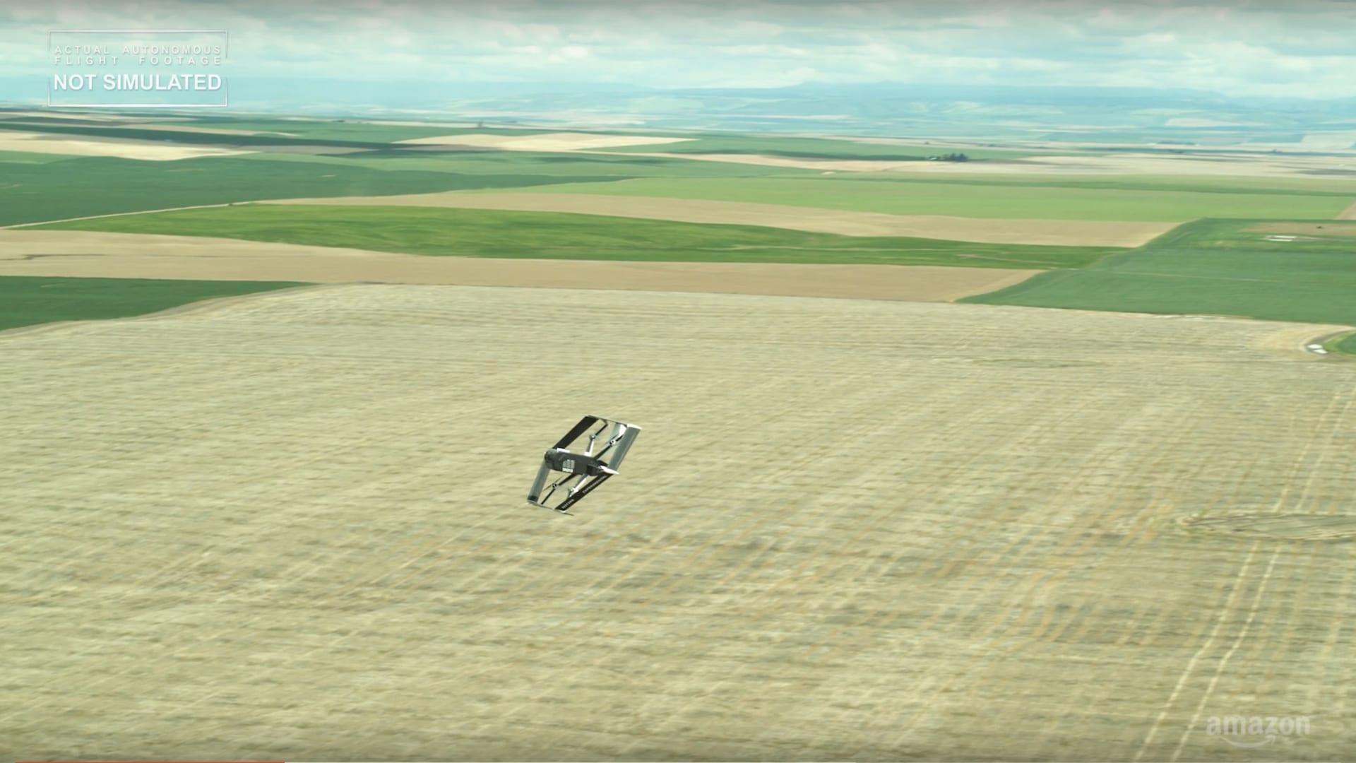 قريباً.. أمازون ستتمكن من توصيل الطلبات عبر الطائرات بدون طيار