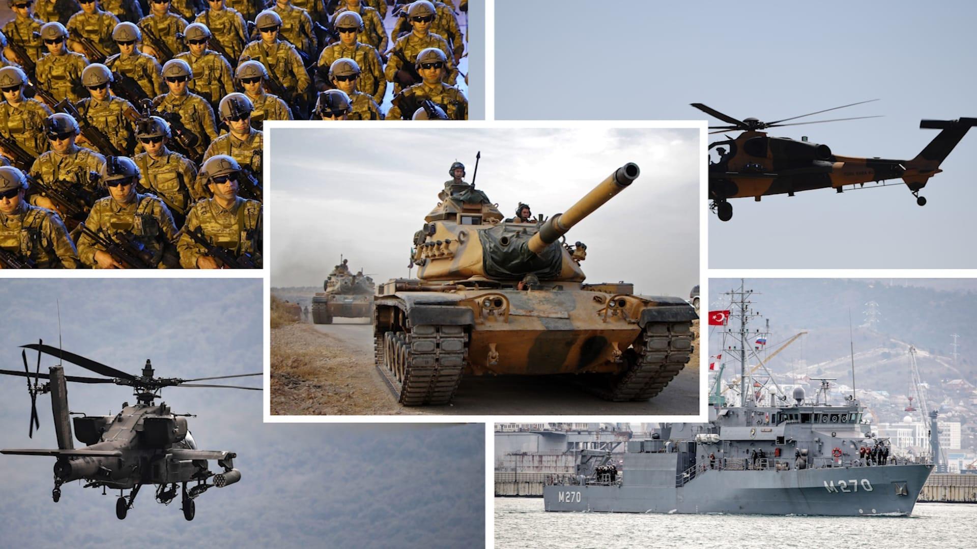 شاهد.. مقارنة بين قوة الجيش التركي ونظيره اليوناني