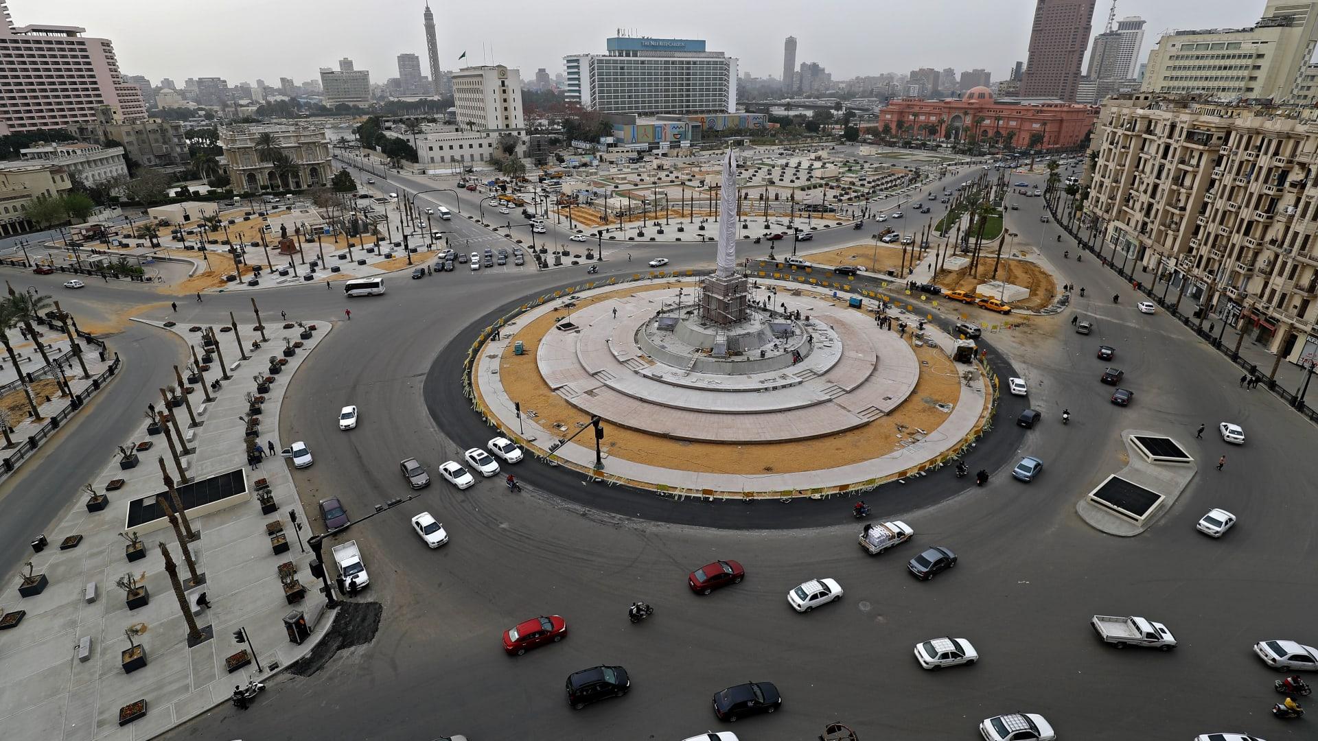 صورة أرشيفية لميدان التحرير في القاهرة الذي يعتبر أيقونة ثورة 25 يناير