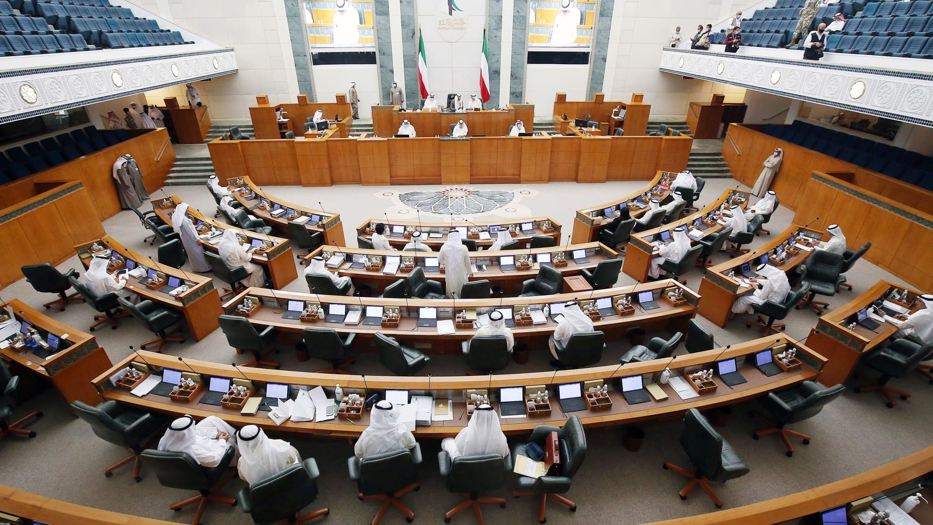 مجلس الأمة الكويتي يبايع بالإجماع الشيخ مشعل الأحمد الجابر الصباح وليا للعهد