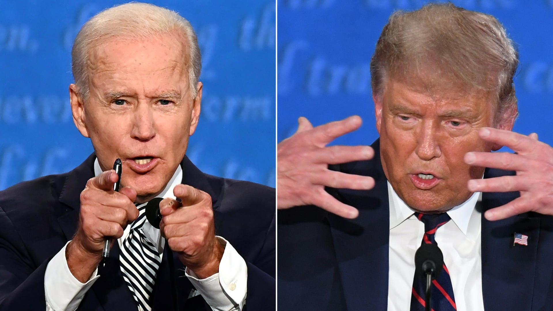 ترامب يوافق على مقترح بايدن بتأجيل موعد المناظرة الرئاسية