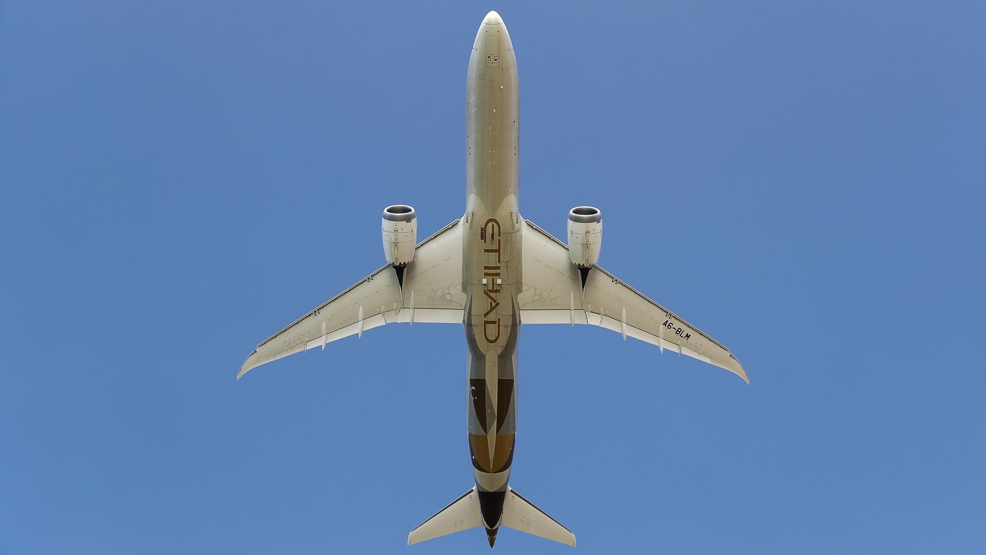 صورة أرشيفية لإحدى طائرات طيران الاتحاد