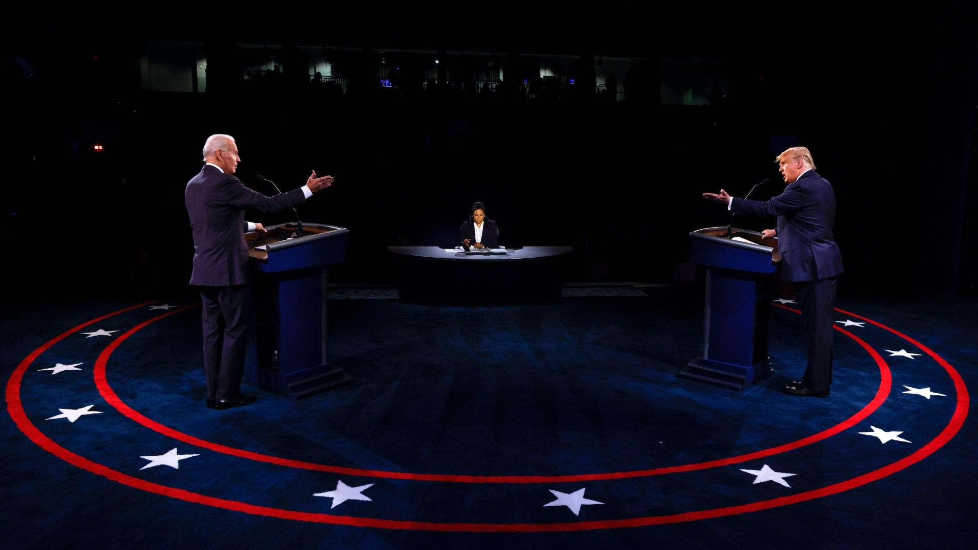 من المناظرة الرئاسية الأخيرة قبل الانتخابات