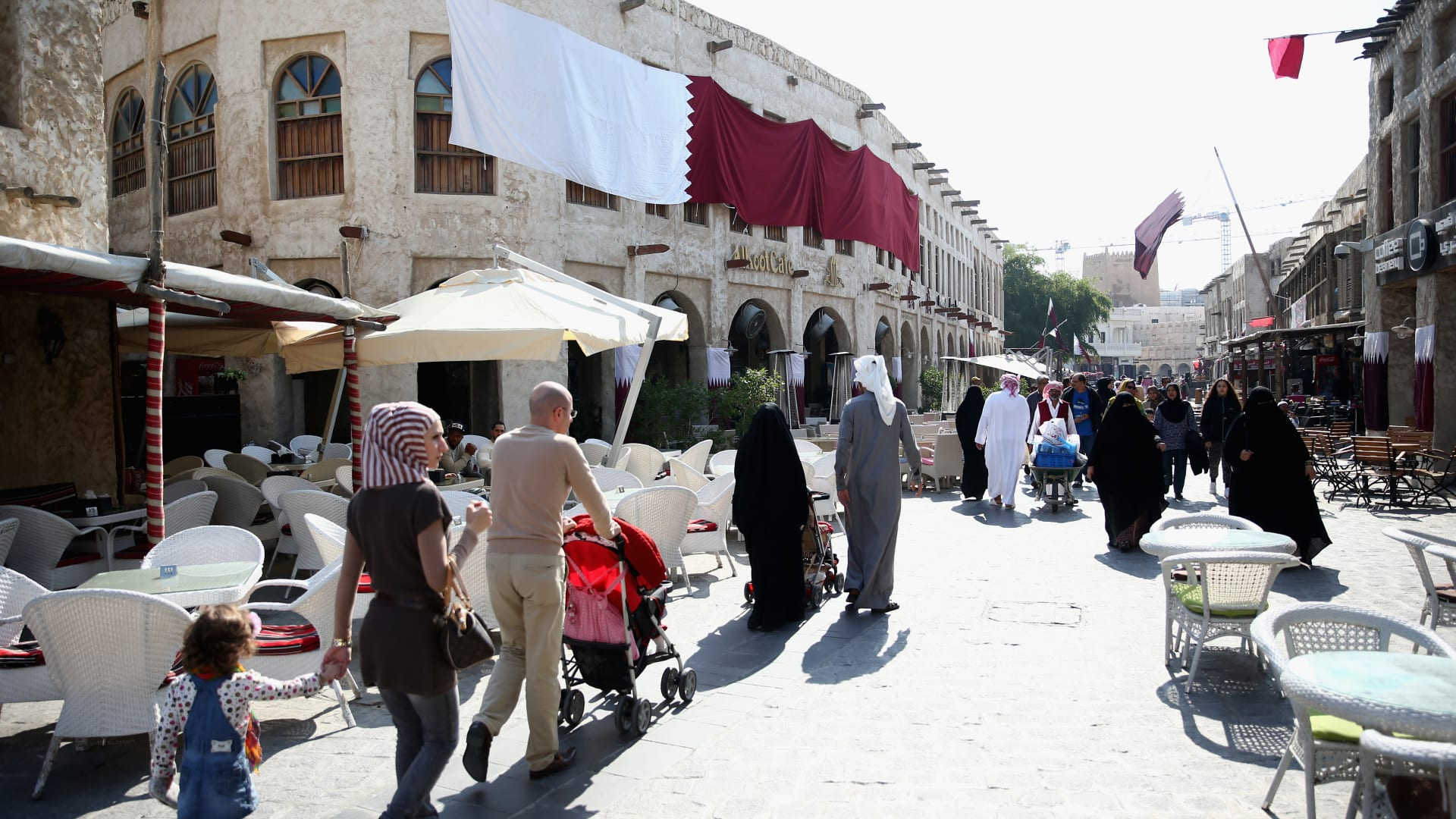 صورة ارشيفية من سوق في قطر