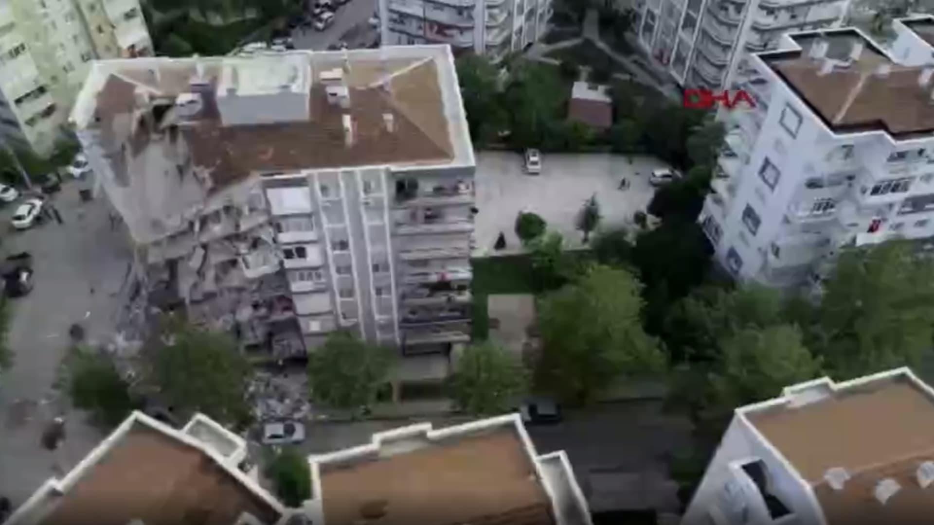 طائرة بلا طيار ترصد الدمار الكبير الذي خلفه زلزال تركيا