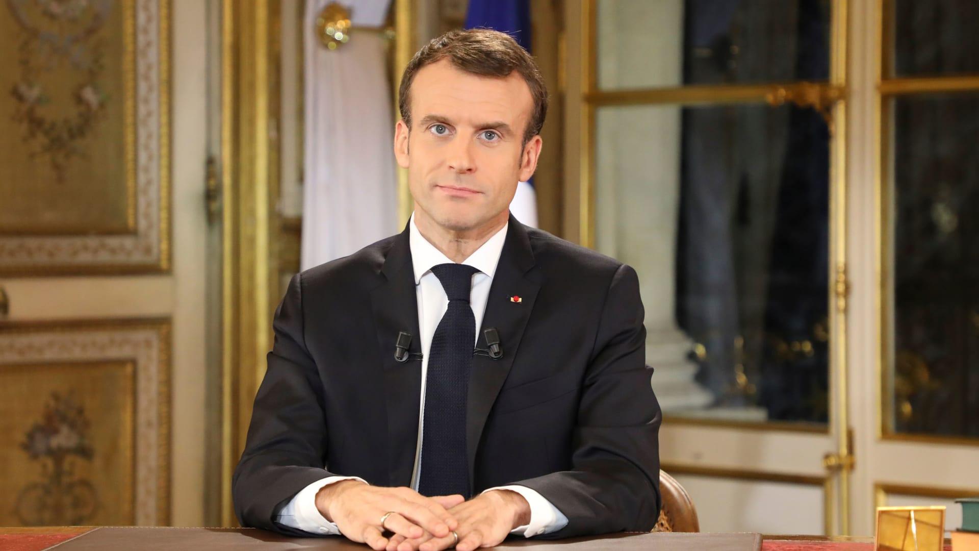 صورة أرشيفية للرئيس الفرنسي، إيمانويل ماكرون