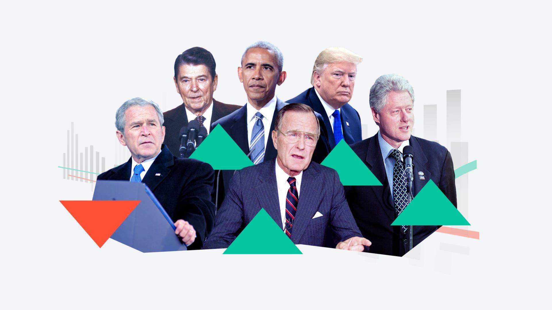من ريغان إلى ترامب.. كيف كان أداء الأسهم في عهد الرؤساء السابقين؟