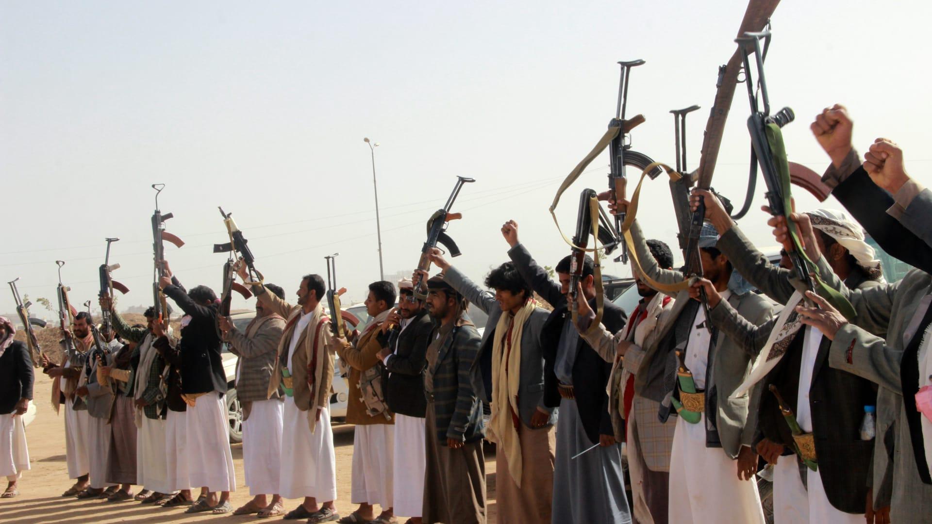 صورة ارشيفية لموالين لجماعة الحوثي في اليمن