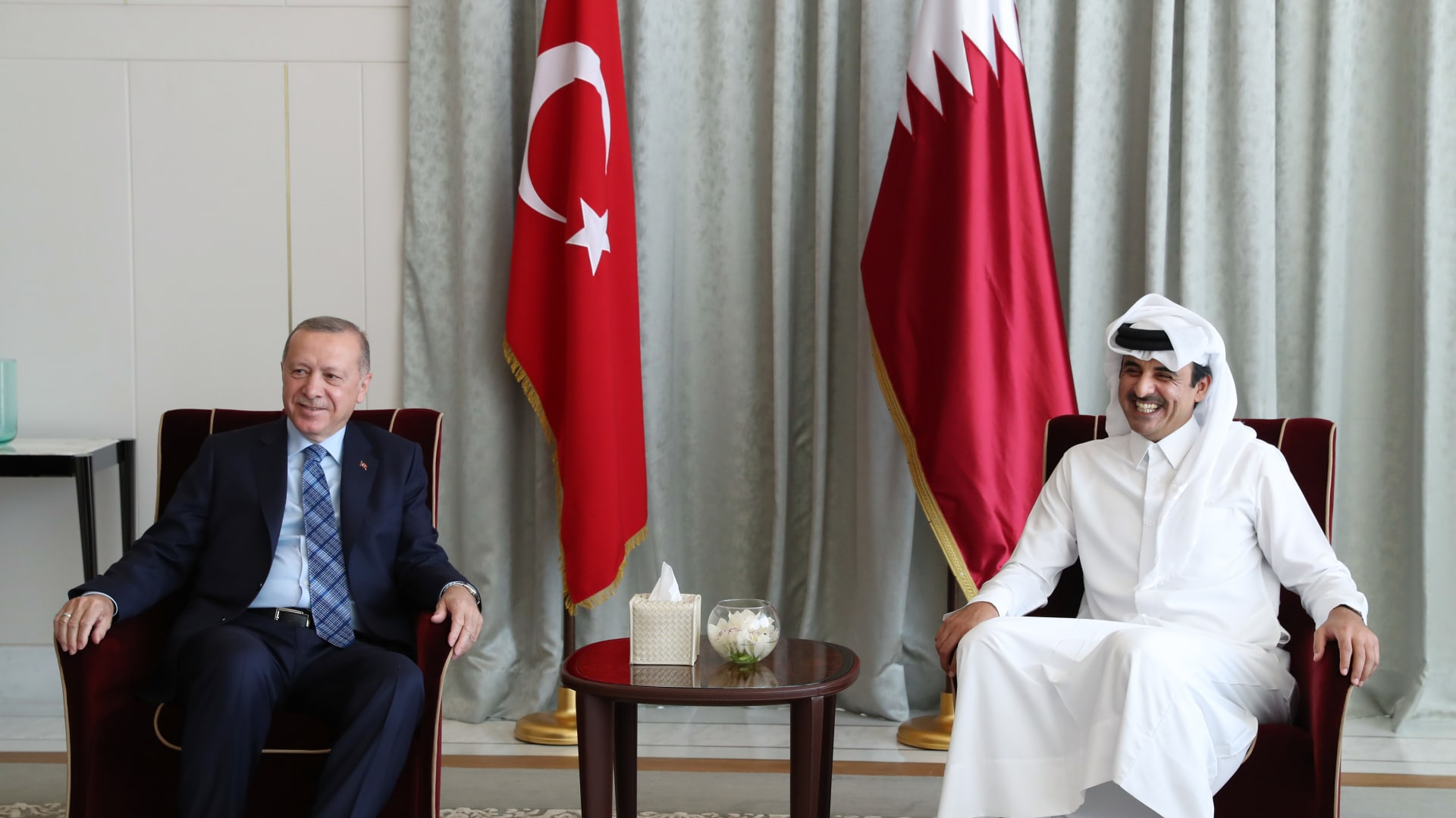 أردوغان: قطر تحتل المرتبة الـ17 في الاستثمار الأجنبي بتركيا.. ولا أحد ينتقد وجودها في أسواق المال الأوروبية