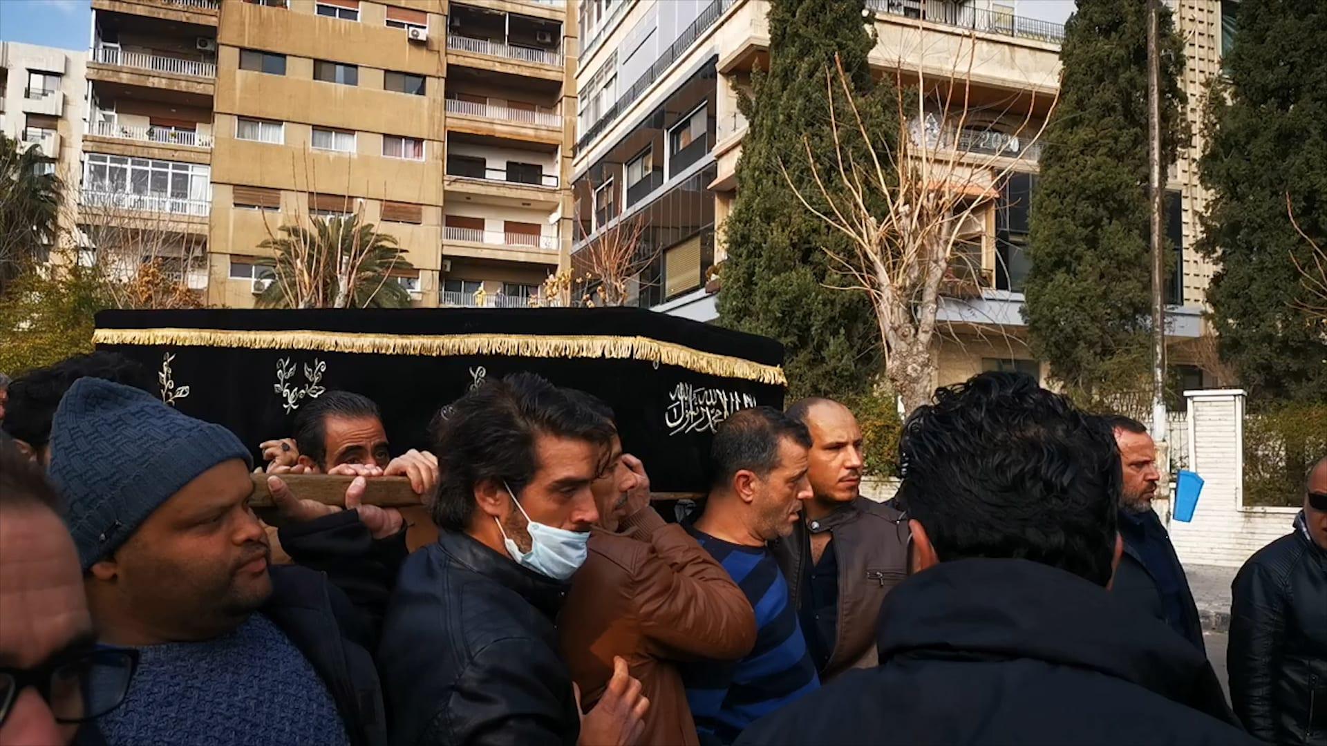 اللقطات الأولى من تشييع المخرج السوري حاتم علي في دمشق