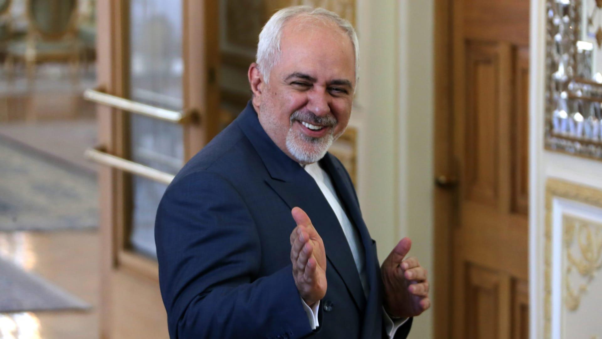 صورة أرشيفية لجواد ظريف، وزير الخارجية الإيراني