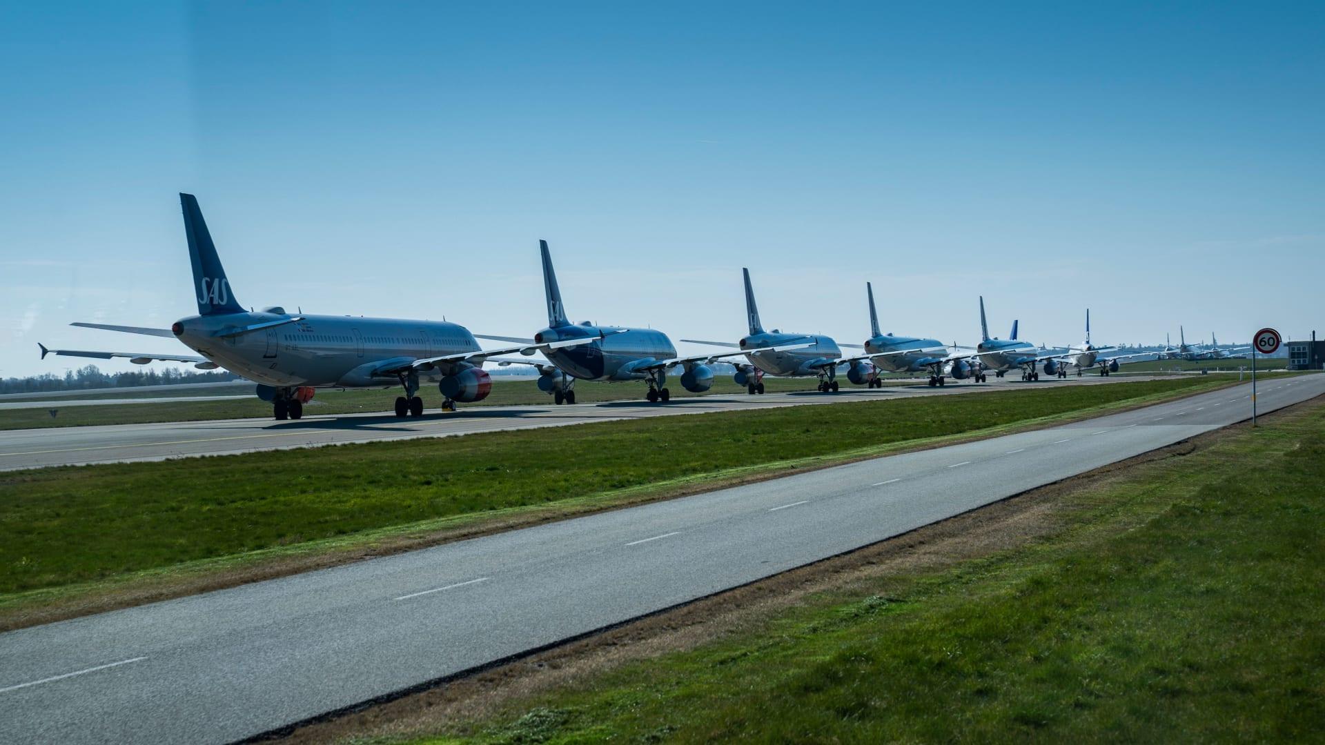 صورة أرشيفية لطائرات بمطار كوبنهاغن بالدنمارك