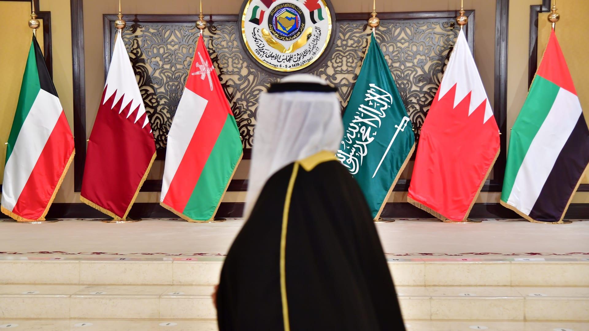 صورة ارشيفية لأعلام دول مجلس التعاون الخليجي