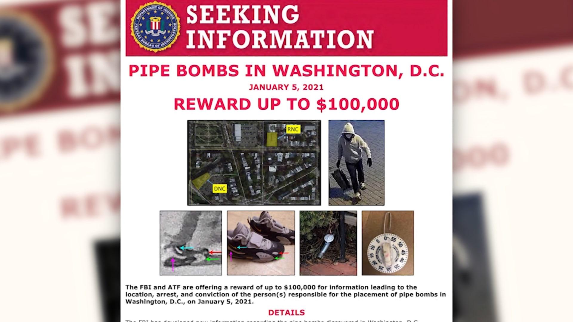 فيديو يُظهر المشتبه بزرعه قنبلتان قرب مبنى الكونغرس قبل اقتحامه