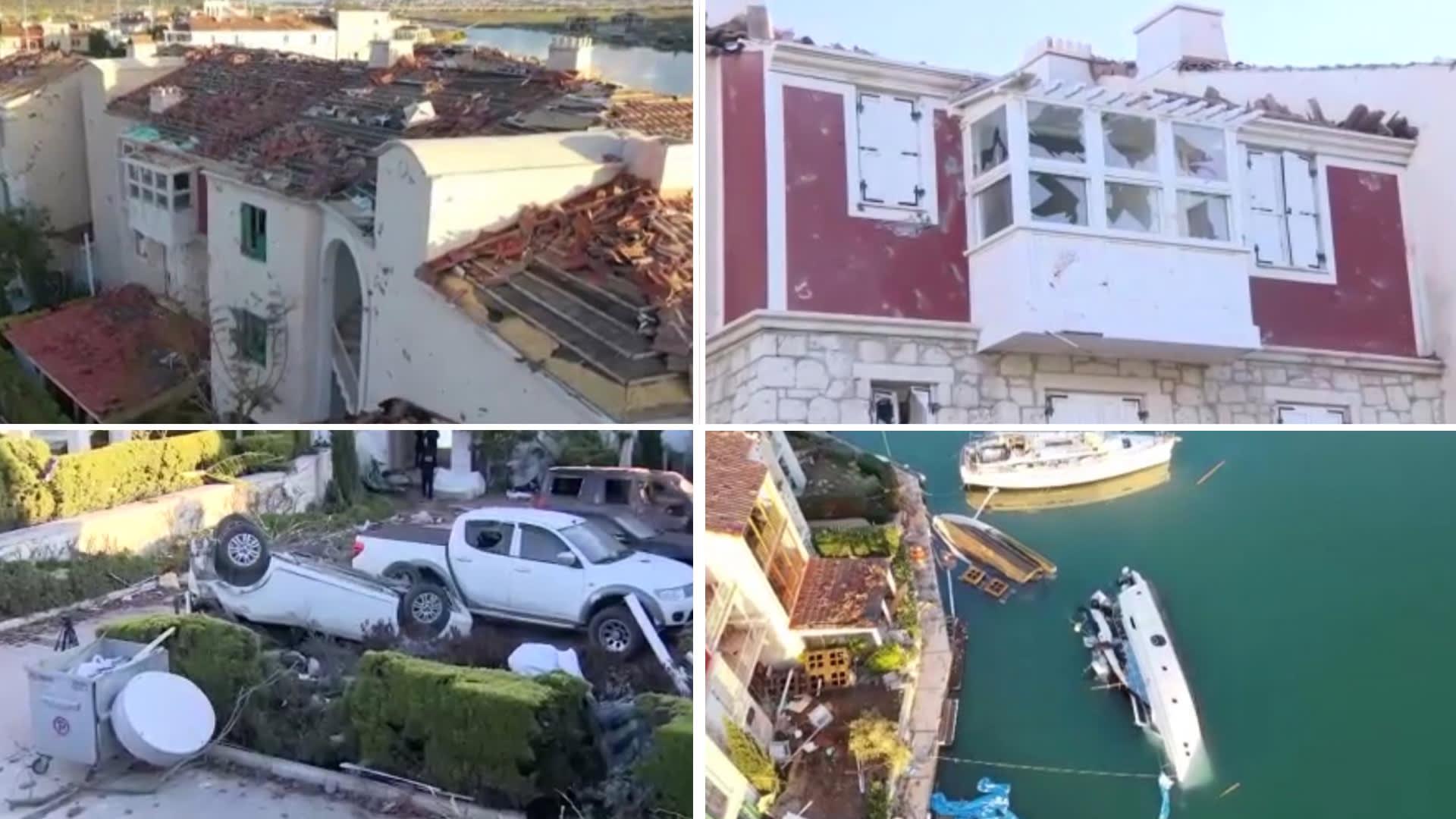 لقطات مُصورة تُظهر حجم أضرار الإعصار المدمر بأزمير في تركيا