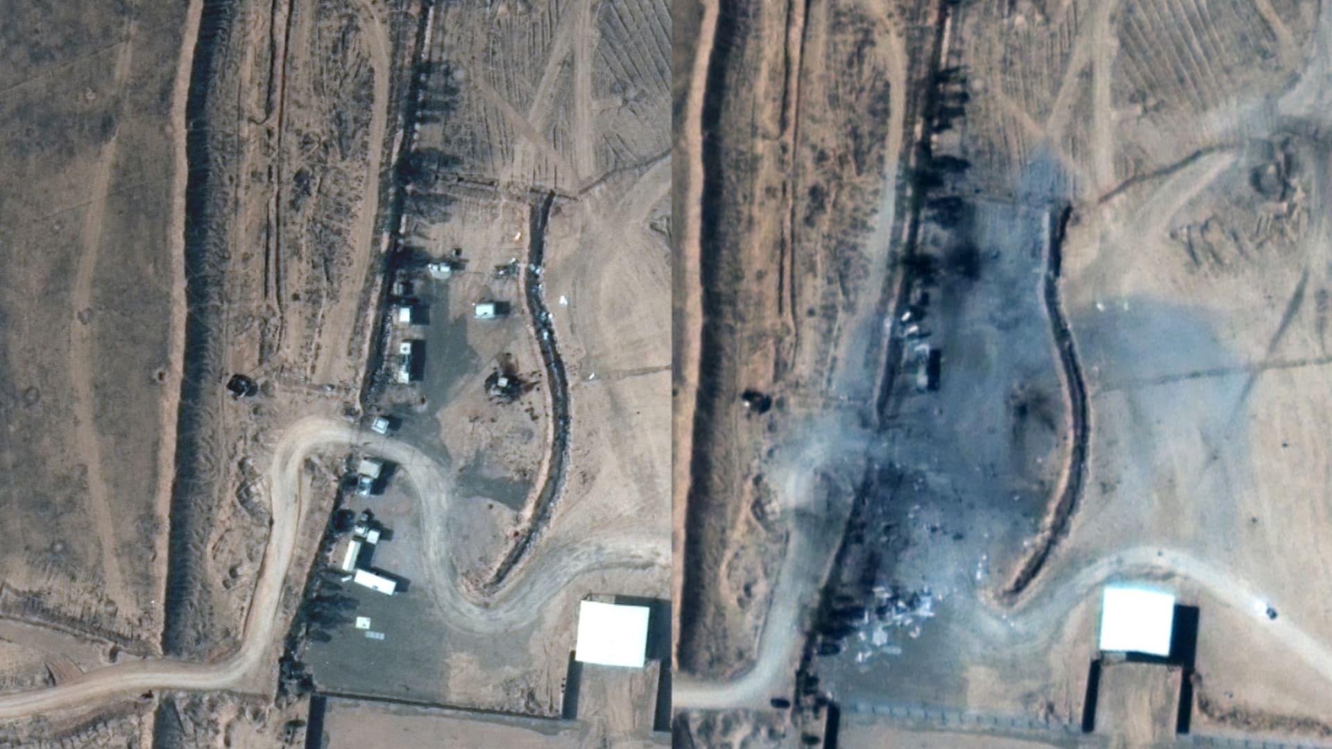 صور التقطها الأقمار الصناعية تظهر قبل وبعد الضربات الأمريكية في سوريا