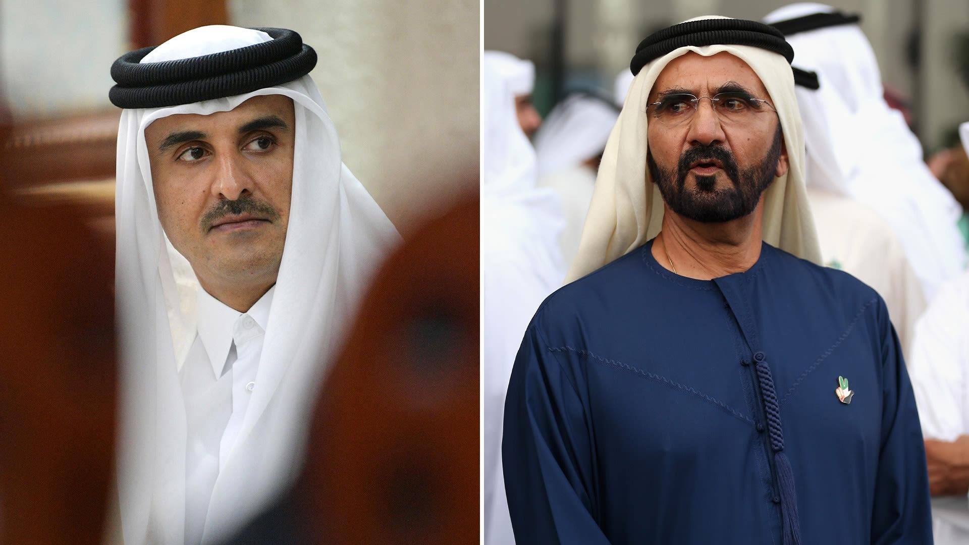 لأول مرة منذ سنوات.. أمير قطر يجري اتصالا مع حاكم دبي لتقديم تعازيه في وفاة حمدان بن راشد