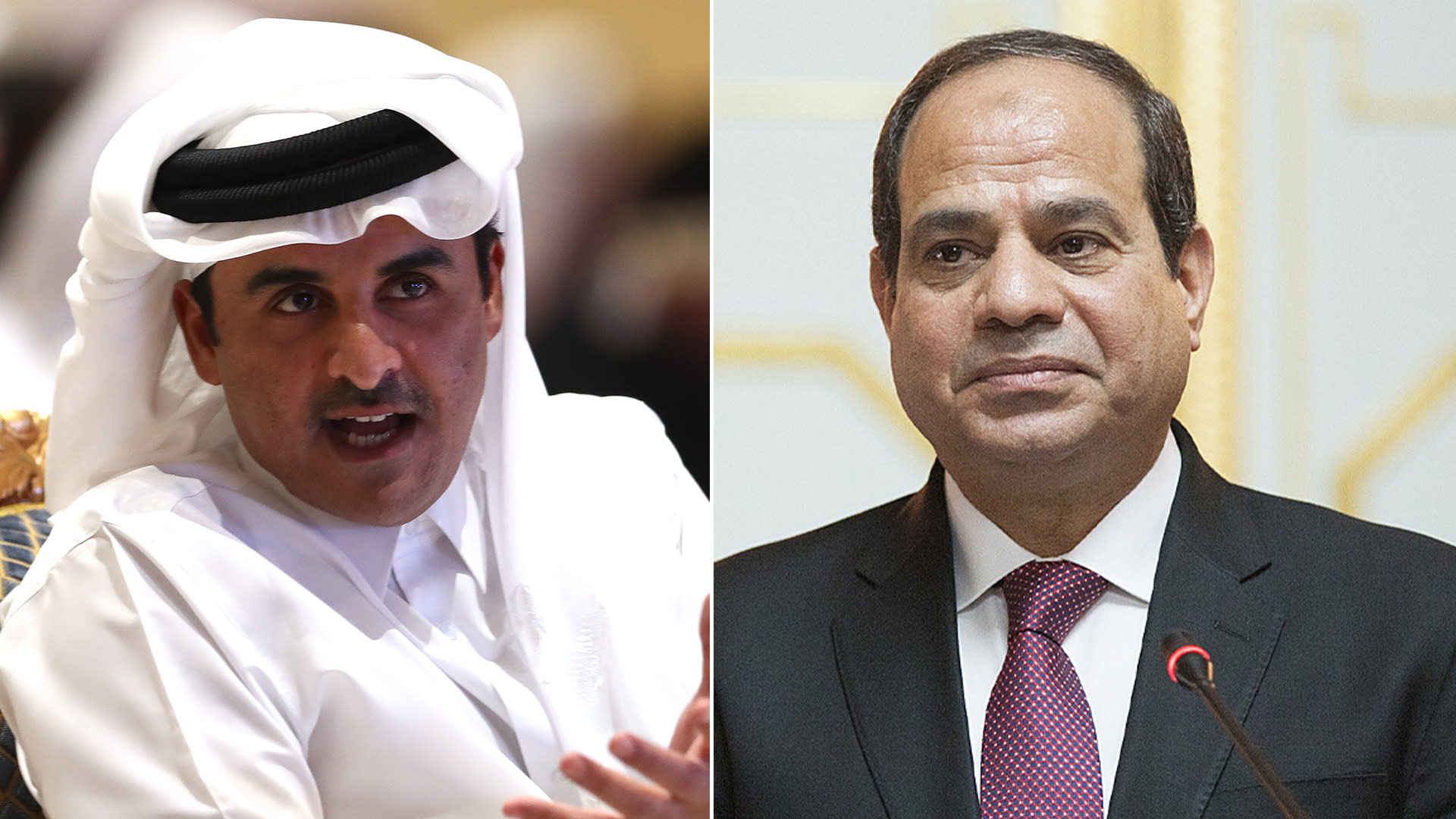 السيسي يتلقى برقية من أمير قطر للعزاء في ضحايا حادث قطاري سوهاج