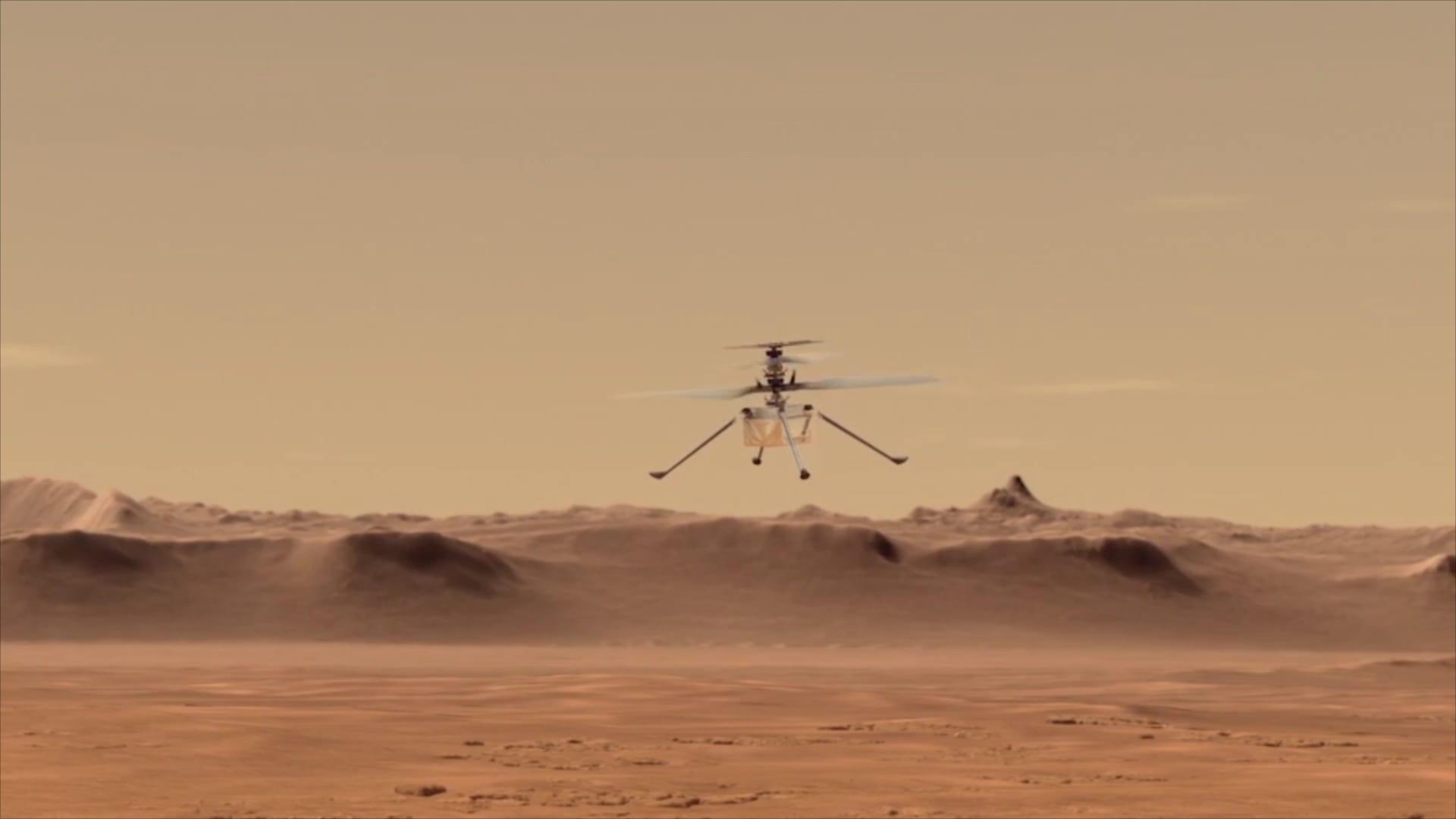 مروحية ناسا الصغيرة جاهزة لتسجيل التاريخ على كوكب المريخ