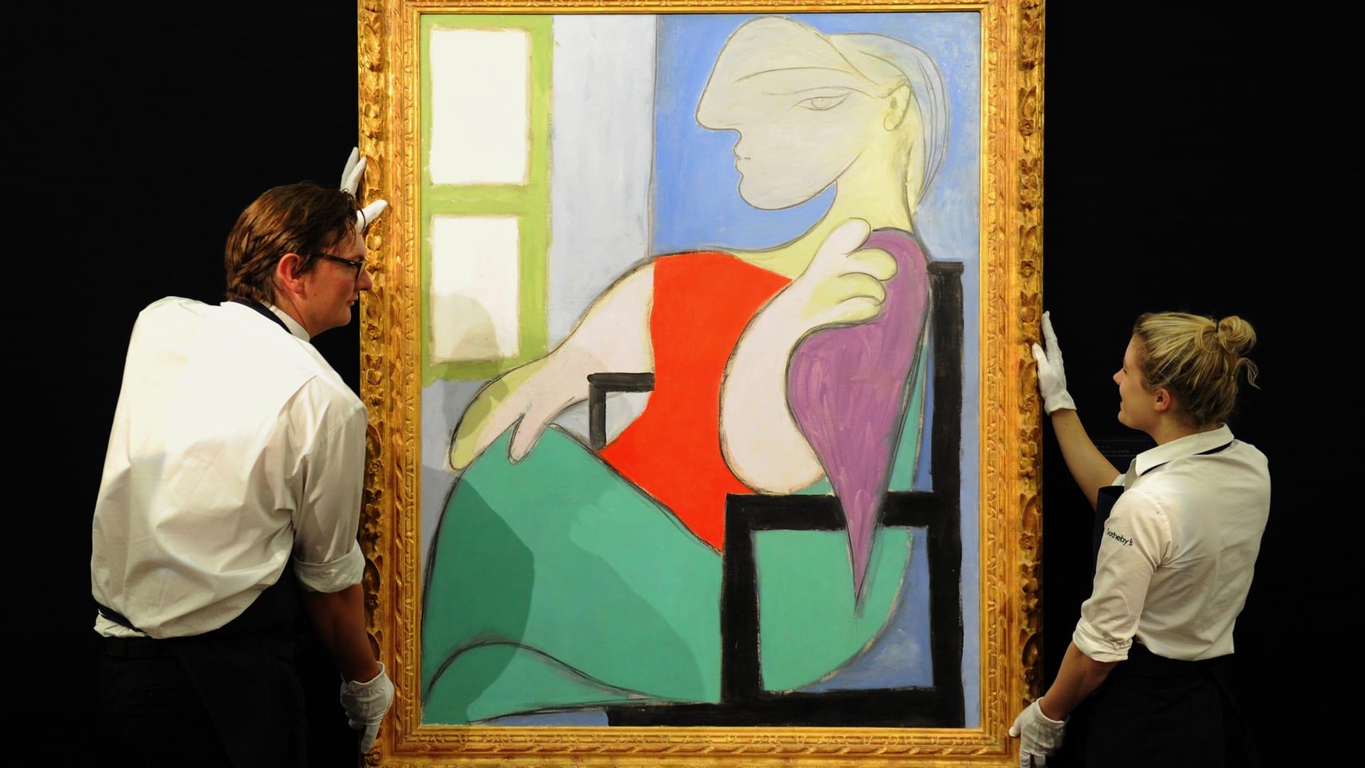 لوحة لعشيقة بيكاسو الشابة معروضة للبيع بمزاد مقابل 55 مليون دولار