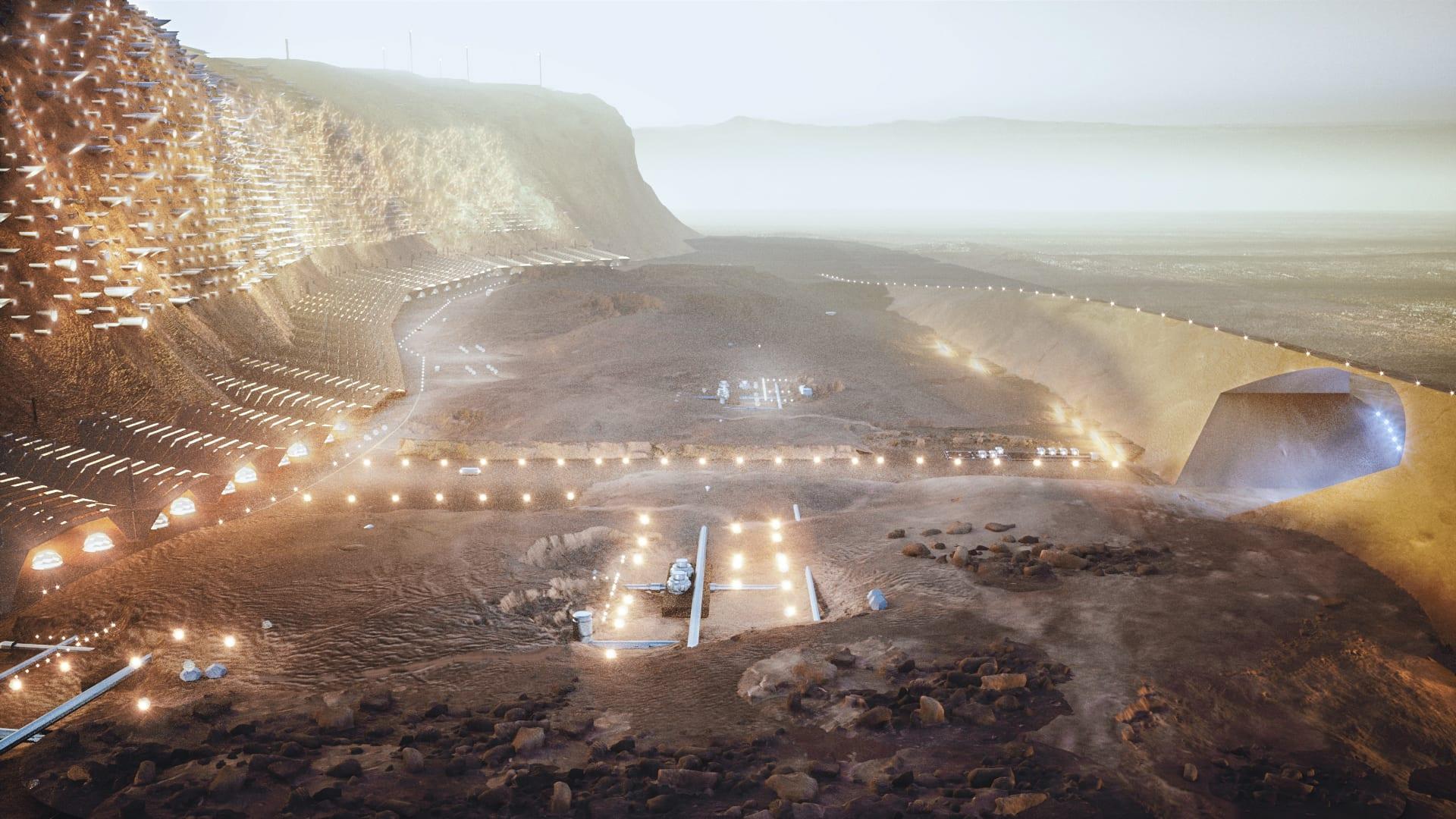 الكشف عن تصميم لأول مدينة مستدامة على سطح المريخ..كيف ستبدو؟