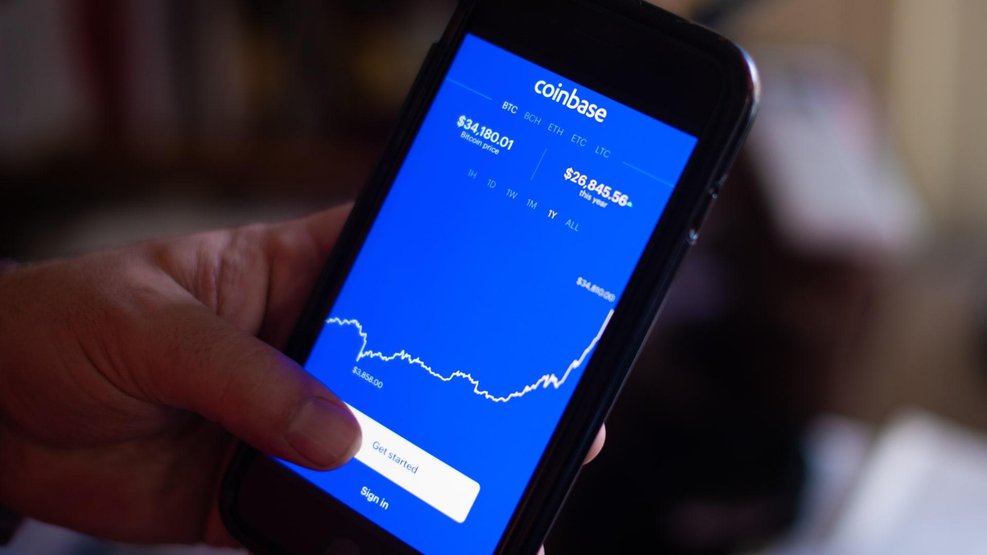 """""""كوينبيز"""" تطرح للاكتتاب العام بقيمة سوقية تقارب 100 مليار دولار"""