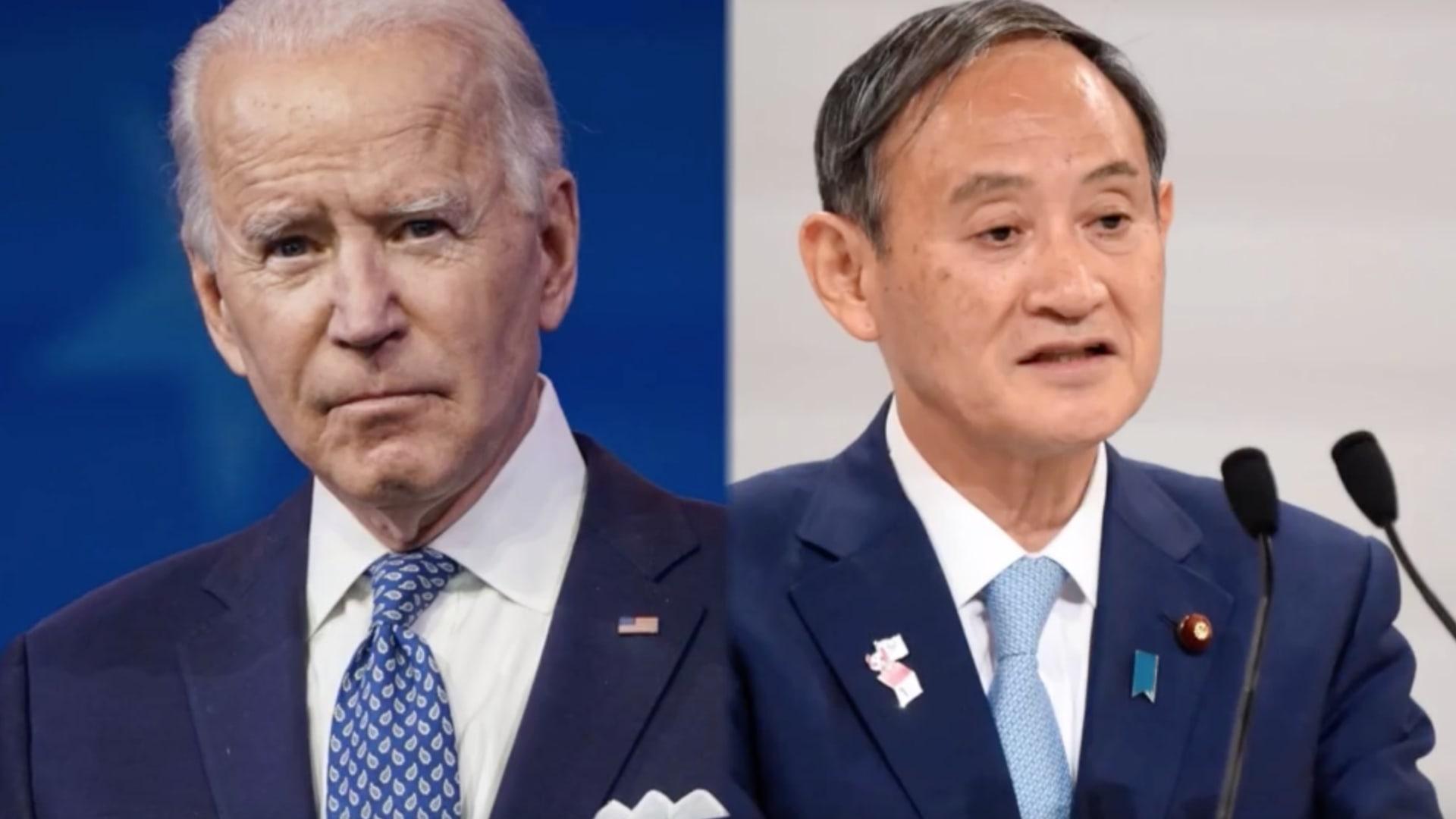 أول لقاء بين بايدن ورئيس وزراء اليابان.. والتركيز على أزمة الصين