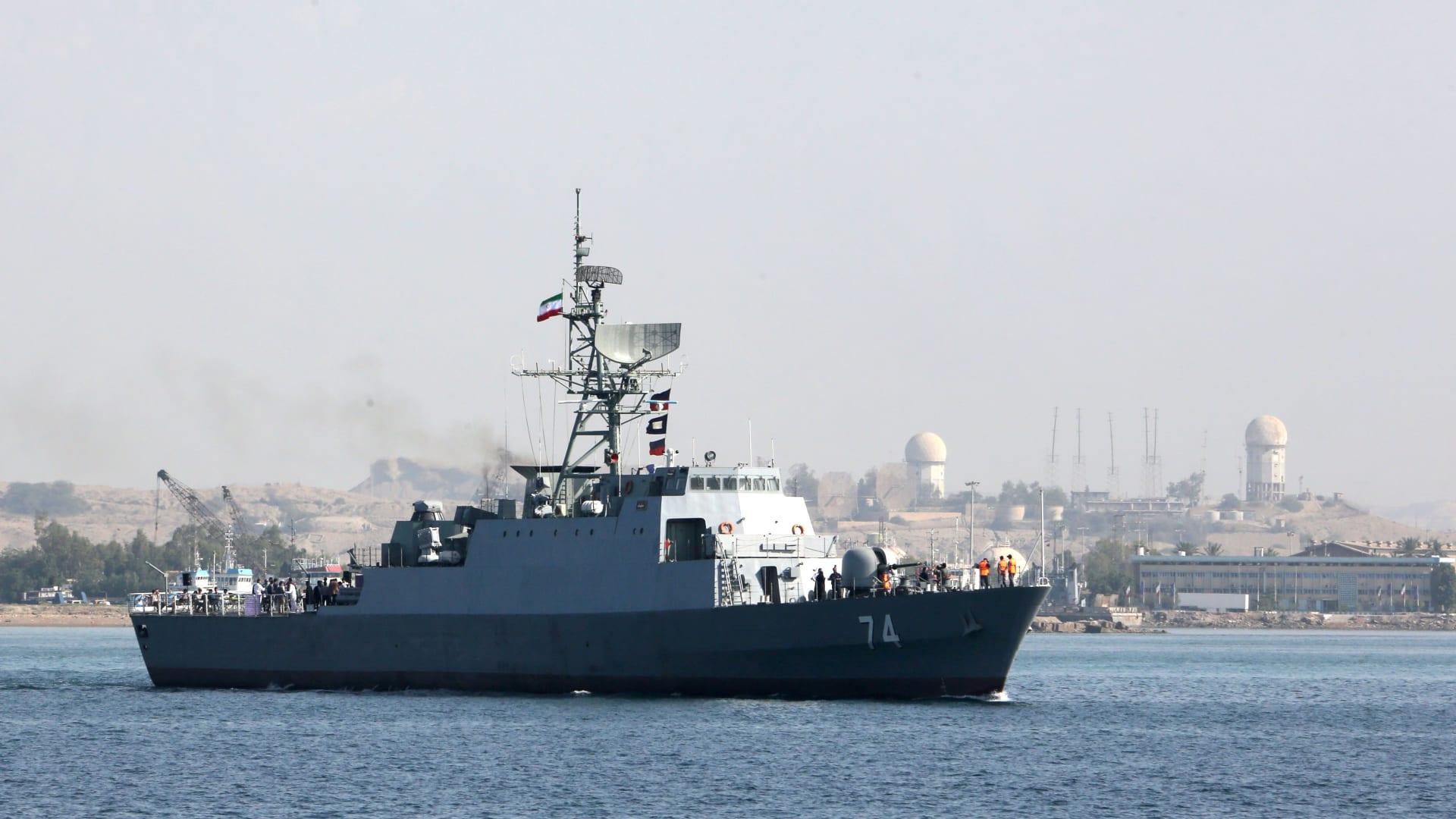 صورة أرشيفية تعبيرية لسفينة تابعة للقوات البحرية الإيرانية