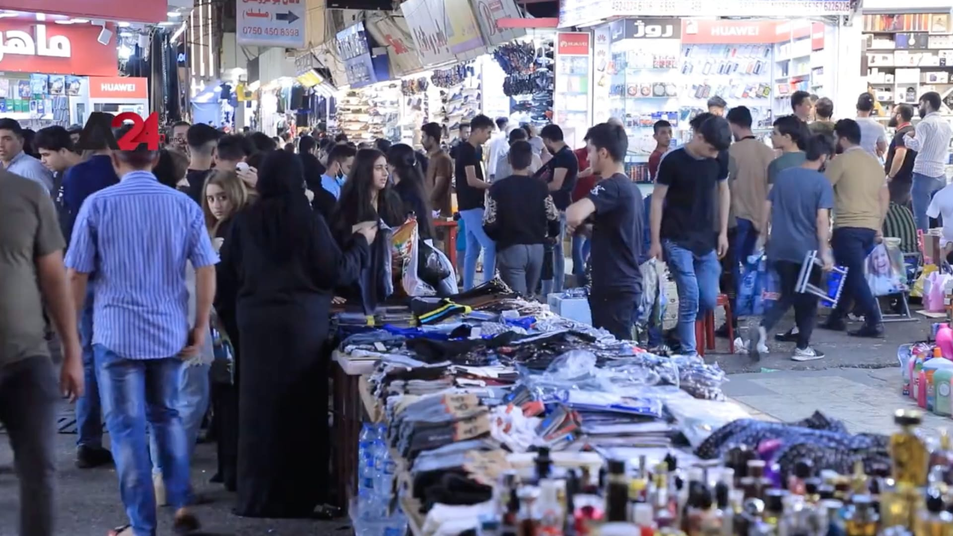 زيادة الإقبال على الأسواق في إقليم كردستان مع اقتراب عيد الفطر