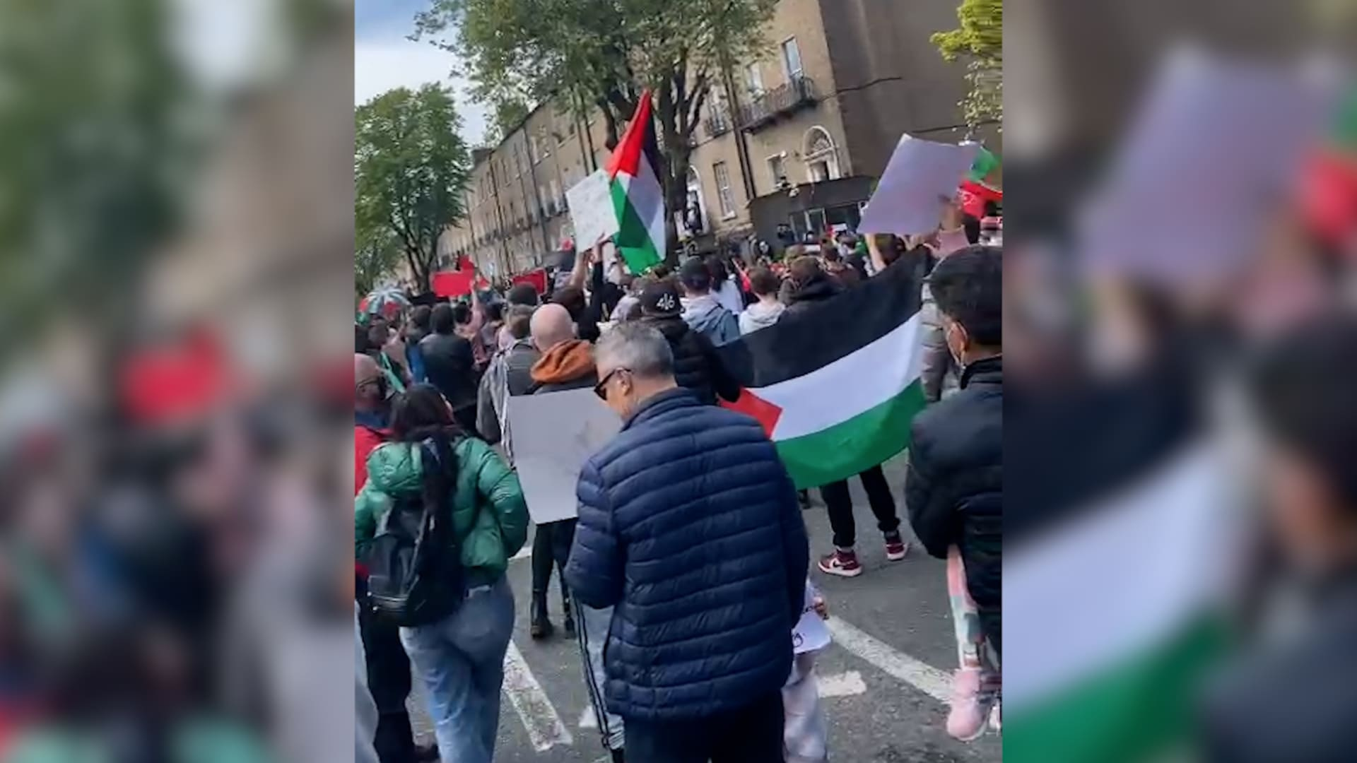أيرلندا: مئات في دبلن يشاركون في تظاهرة تضامنًا مع الفلسطينيين