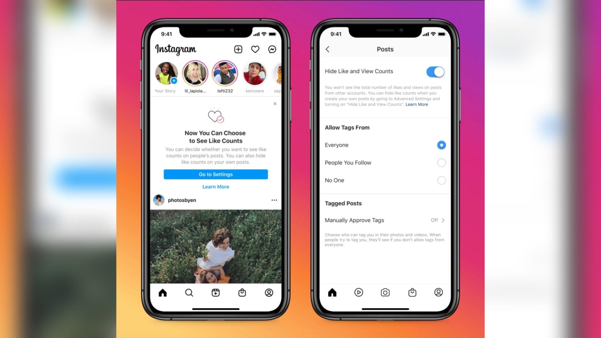 فيسبوك وإنستغرام تتيحان إخفاء الإعجابات لجميع المستخدمين