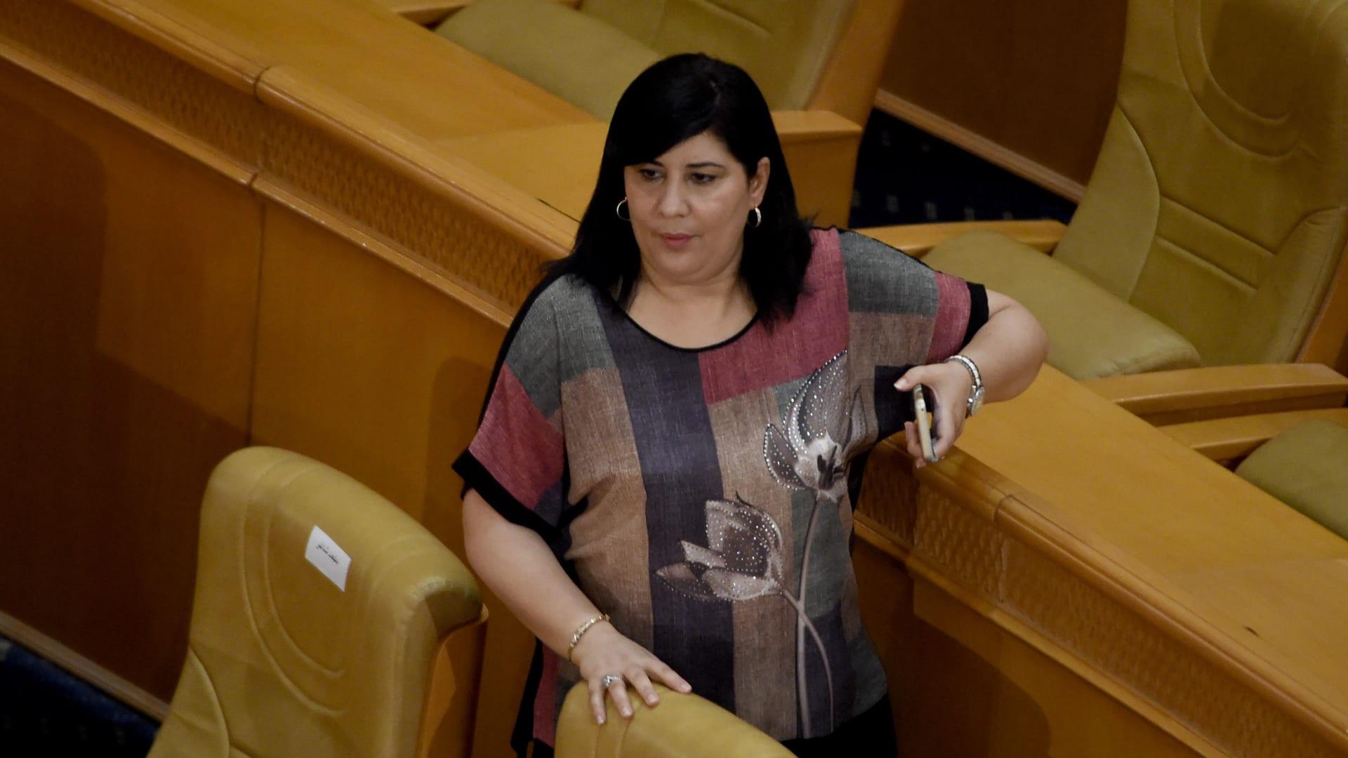 صورة أرشيفية لعبير موسى في البرلمان
