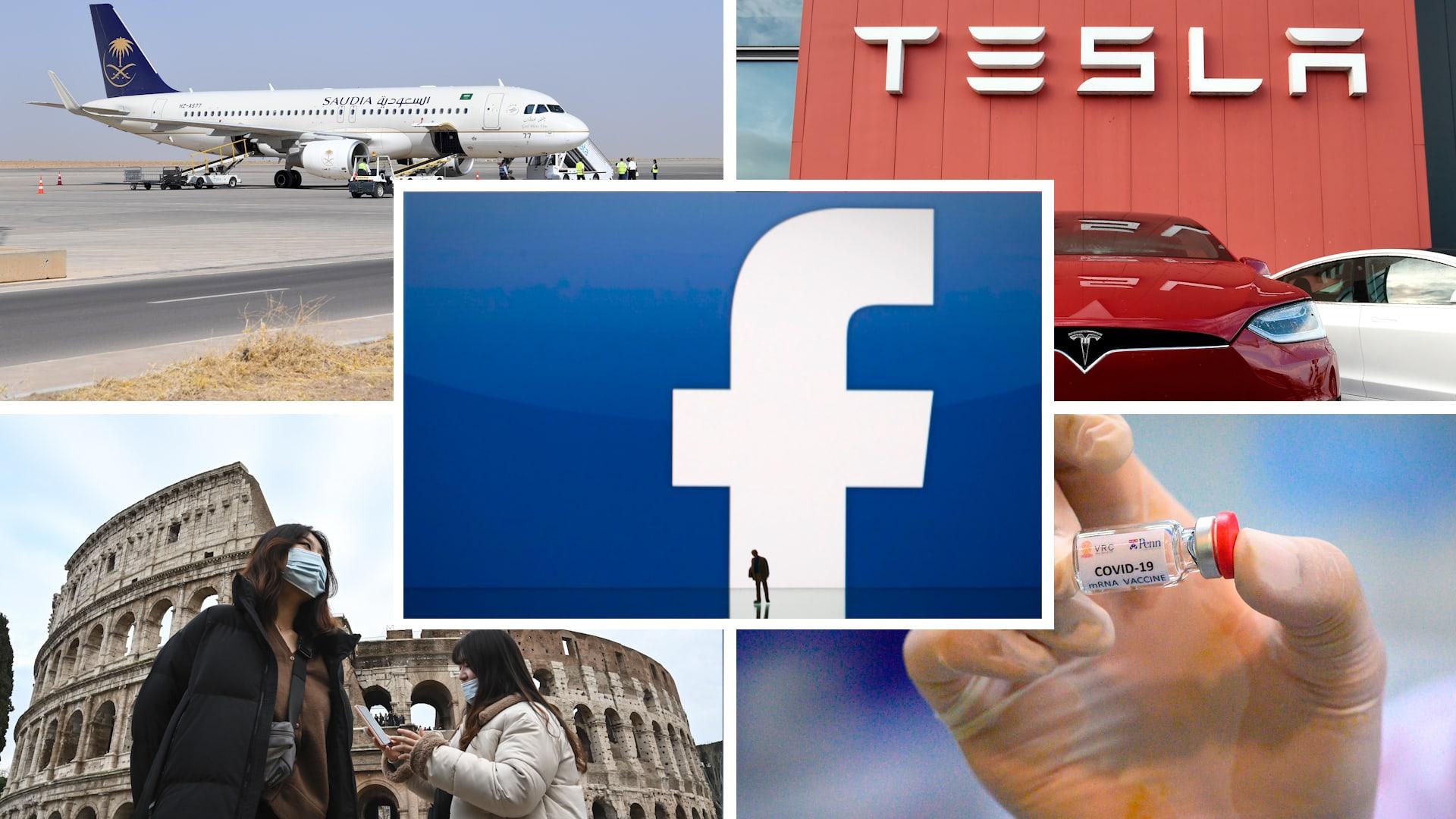 بزنس في أسبوع: فيسبوك تنضم إلى نادي الترليون دولار.. وهذه خطة السعودية لقطاع النقل