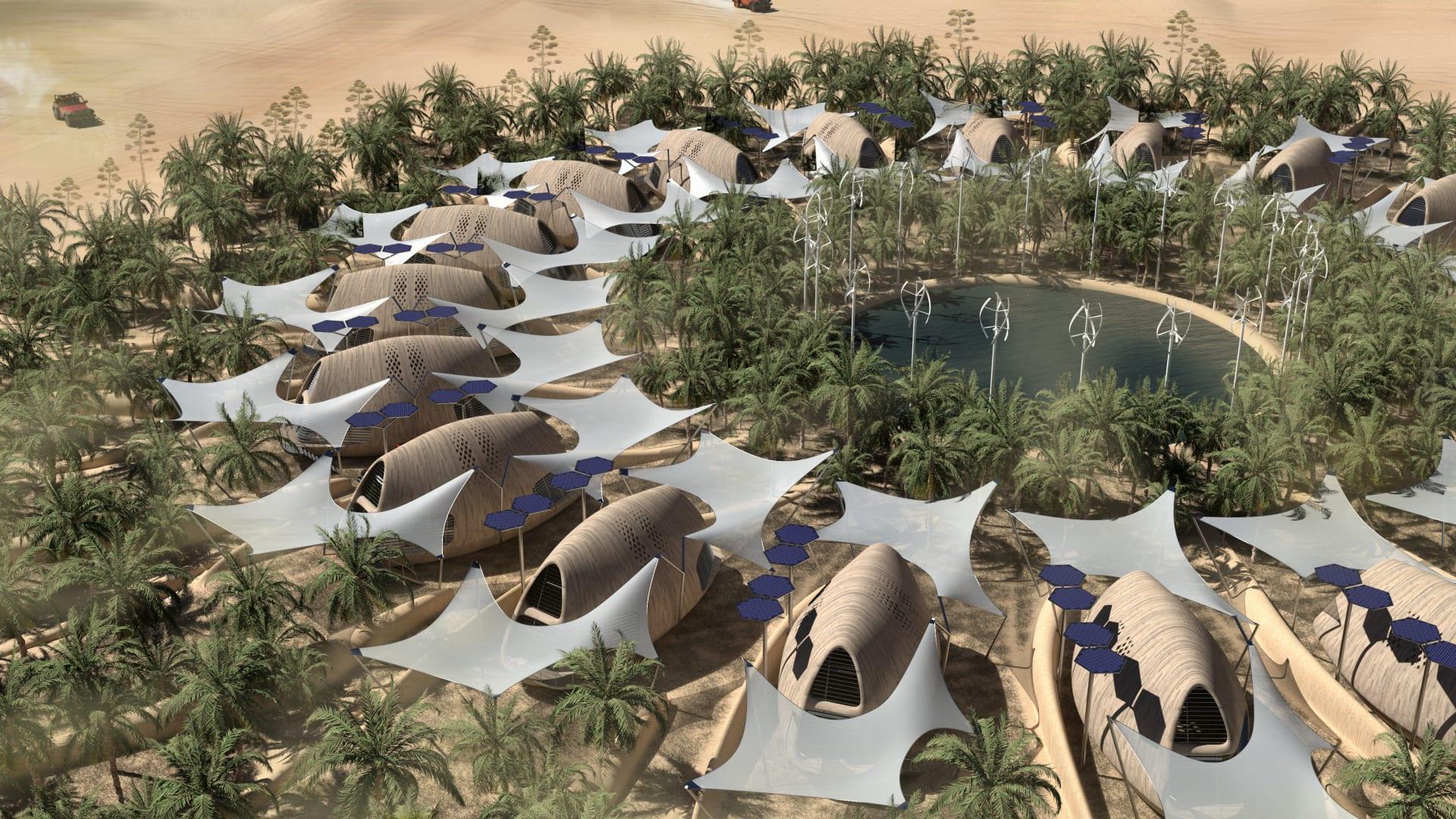 تبدو كواحة وسط الصحراء..هل تشكل هذه المقصورات الحيوية الحل لمواجهة أوضاع الطقس المتطرفة؟