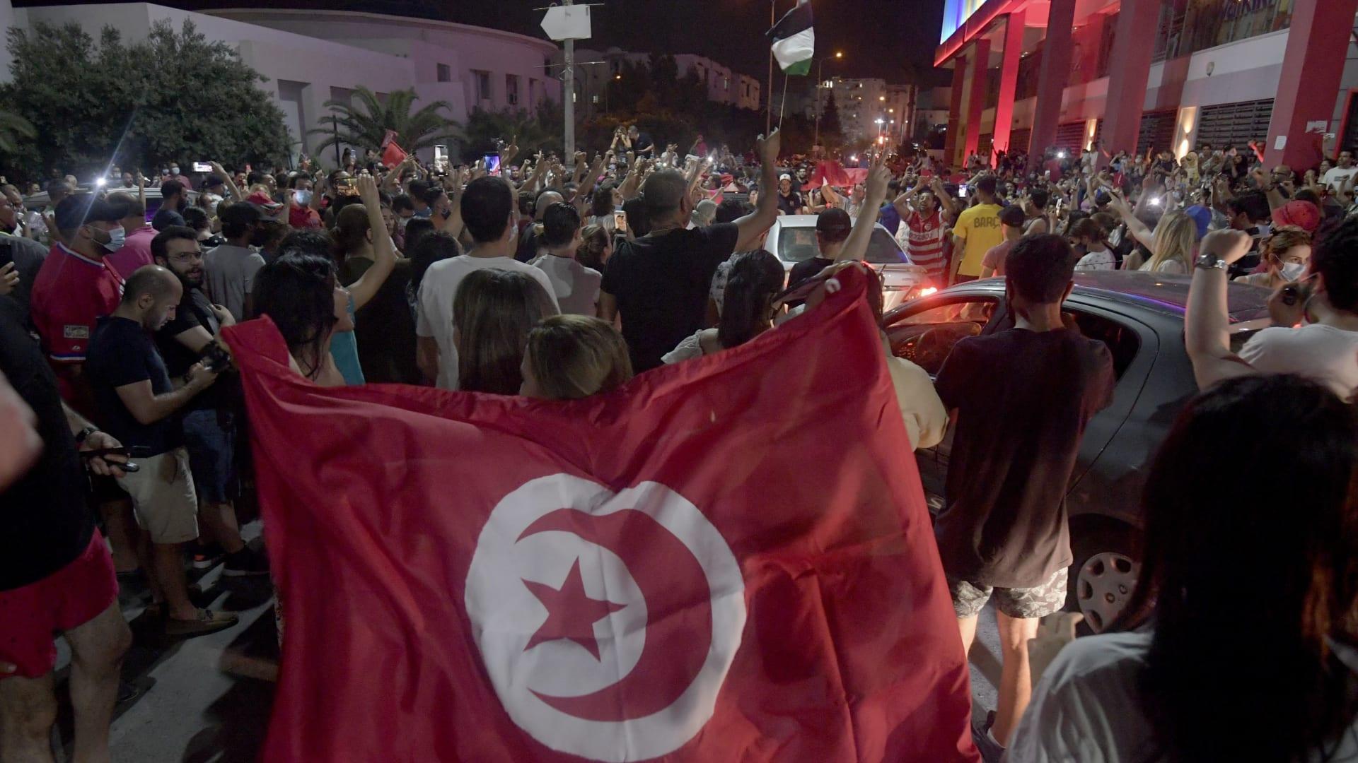 المظاهرات في تونس