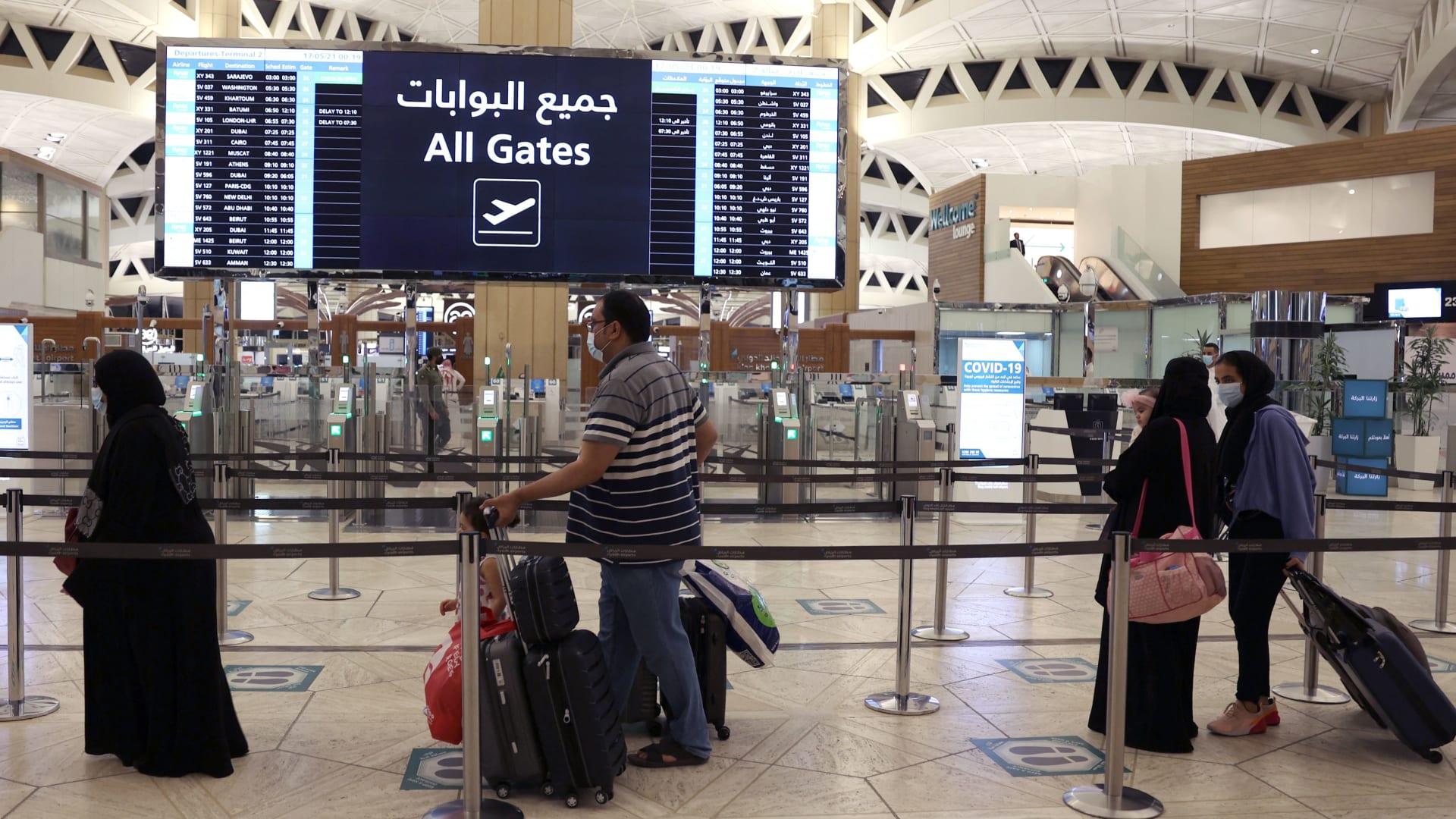 صورة أرشيفية من مطار الملك خالد في السعودية