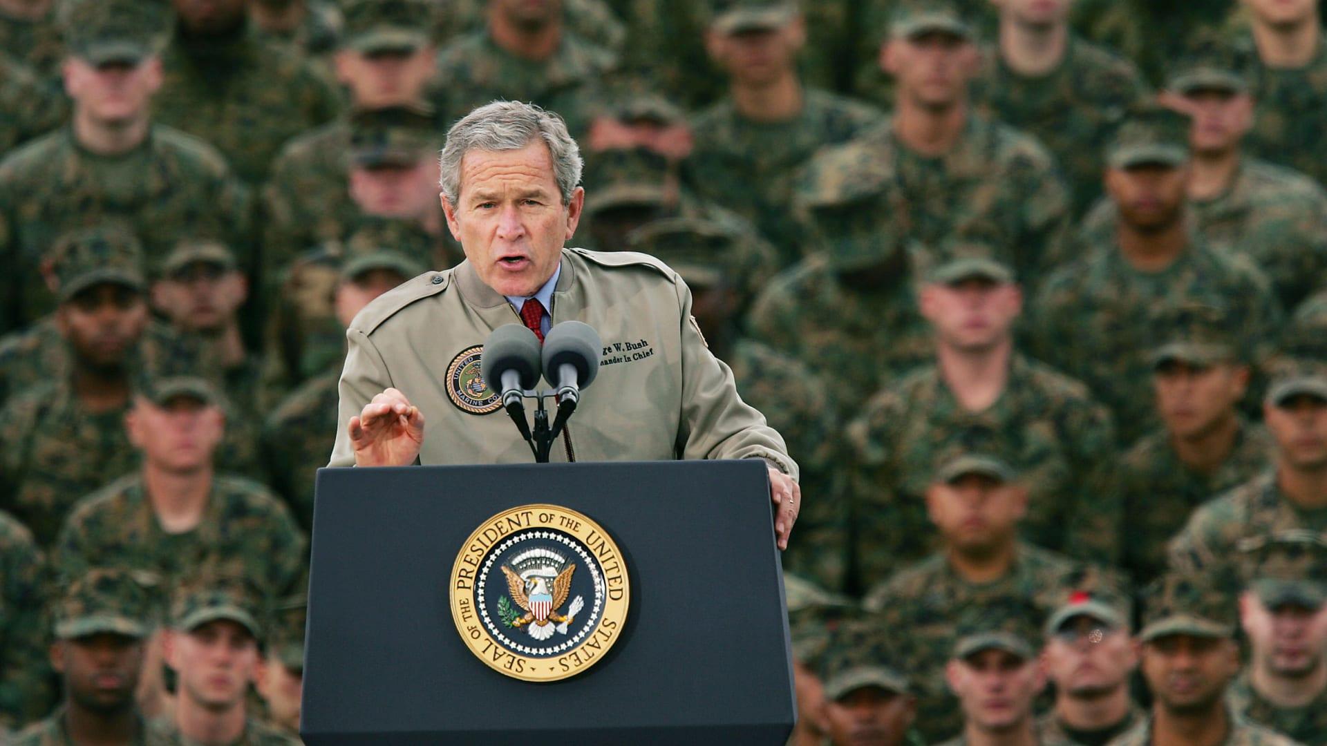 صورة أرشيفية للرئيس الأمريكي الأسبق، جورج بوش