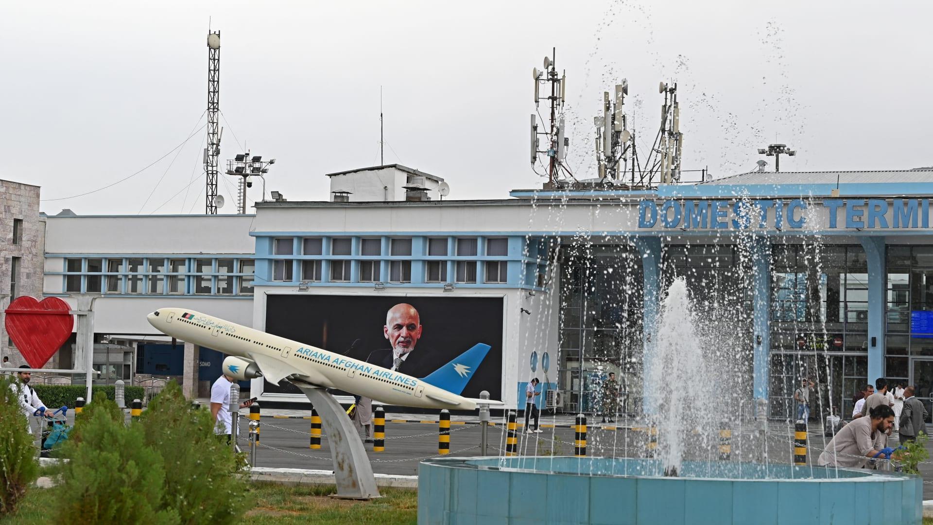 صورة ارشيفية من مطار حامد كرزاي بكابول